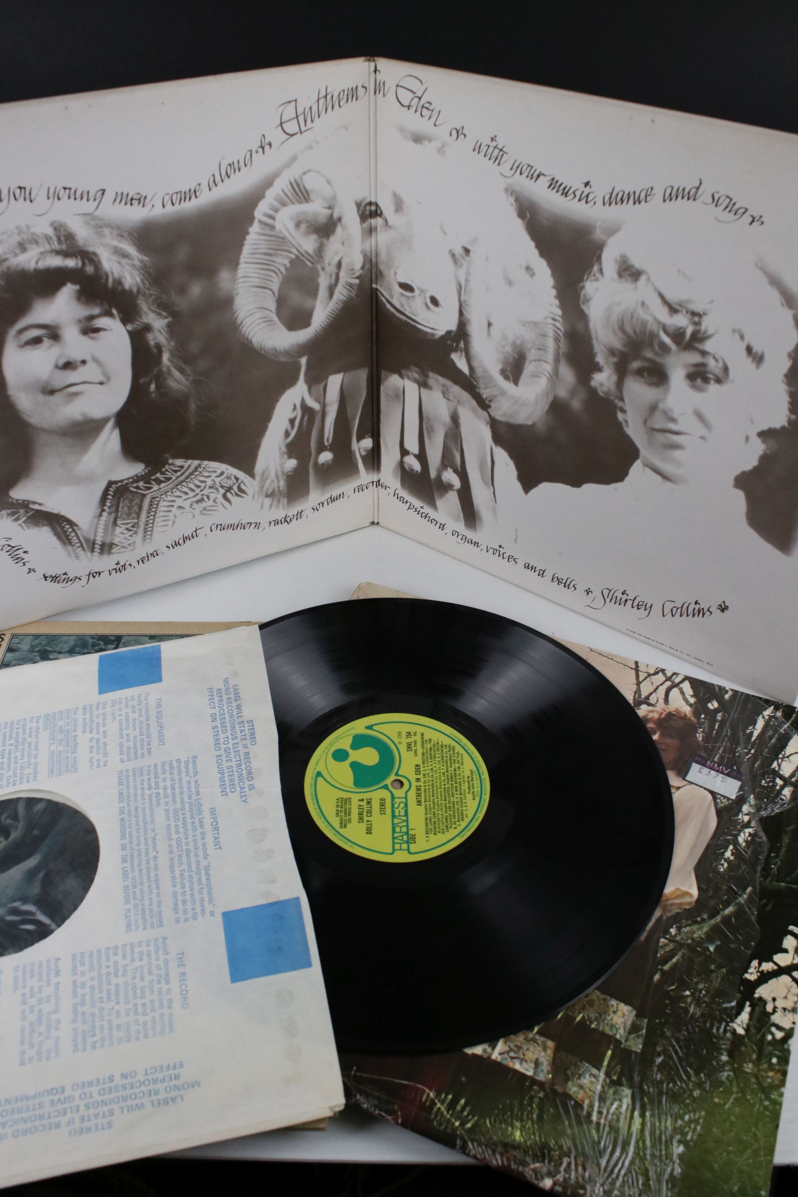 Vinyl - Shirley & Dolly Collins 4 LP's to include Love, Death & The Lady (SHVL 771) sleeve VG+ vinyl - Image 4 of 5