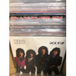 Vinyl - Approx 65 Rock & Metal LP's featuring KISS, Queen, Black Widow, Iron Maiden, AC/DC and more