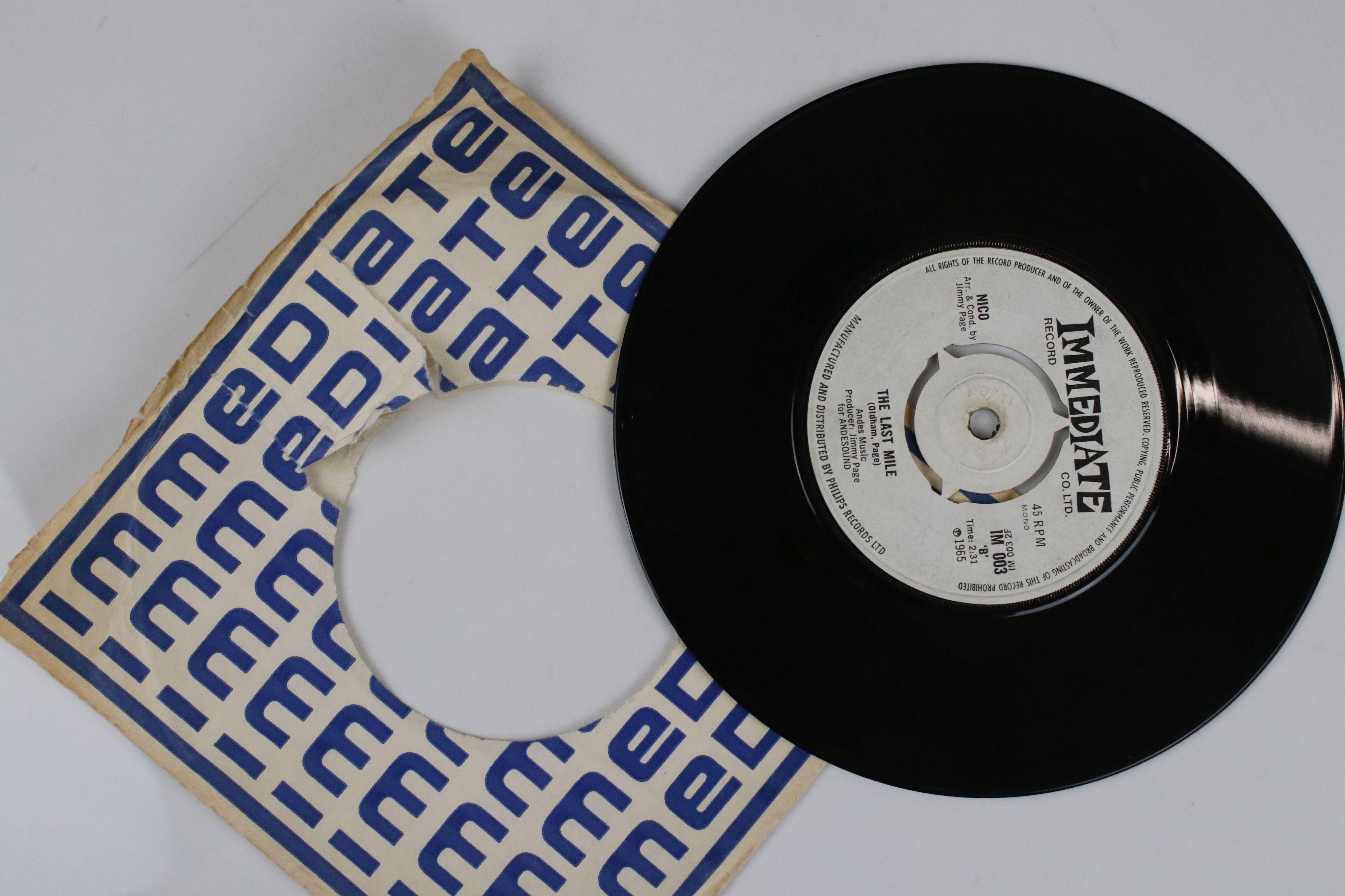 Vinyl - Nico I'm Not Sayin / The Last Mile 45 on Immediate IM003 in company sleeve, vg - Image 5 of 5