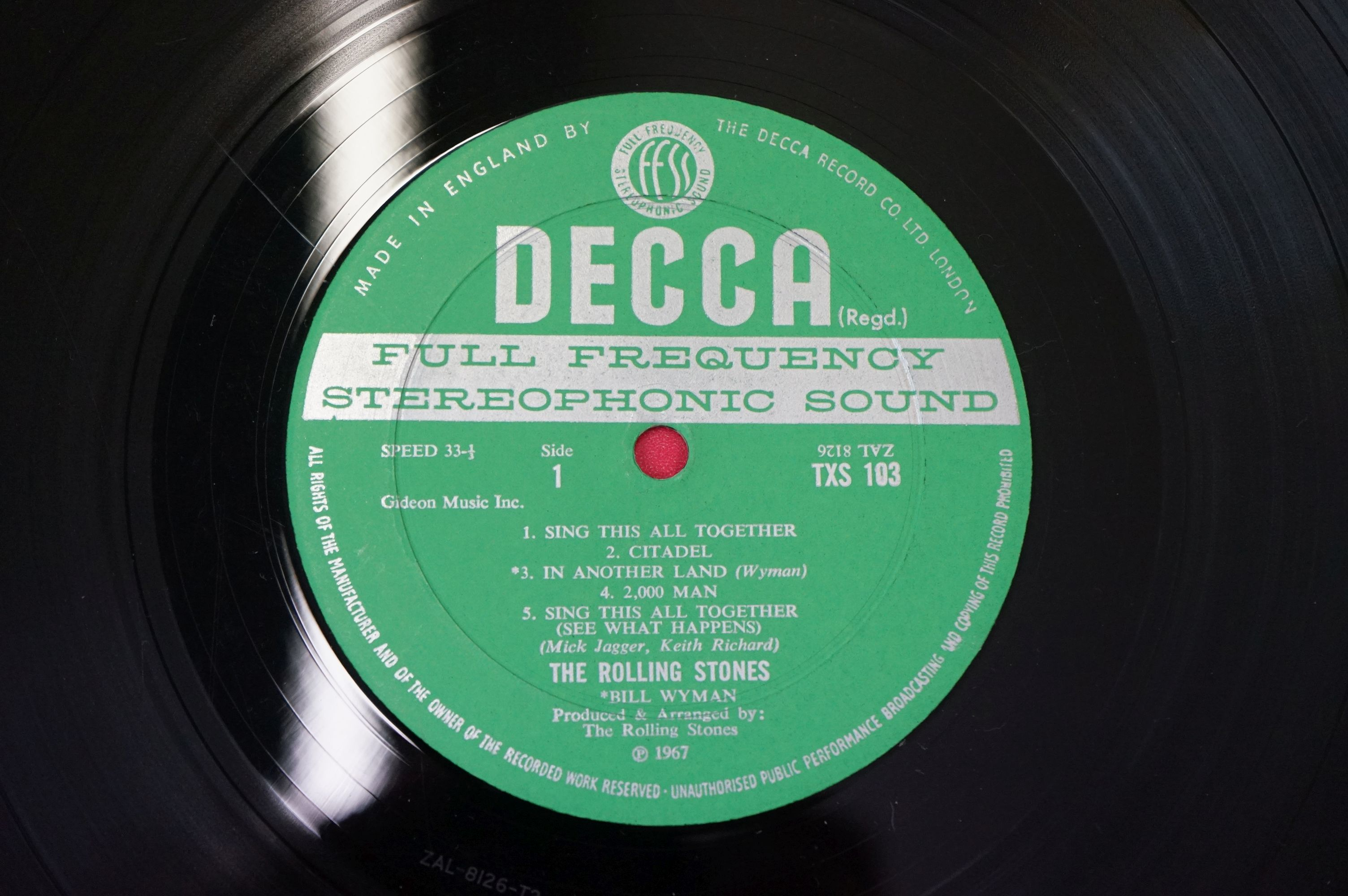 Vinyl - The Rolling Stones Their Satanic Majesties Request TXS103, Decca unboxed green stereo label, - Image 5 of 7