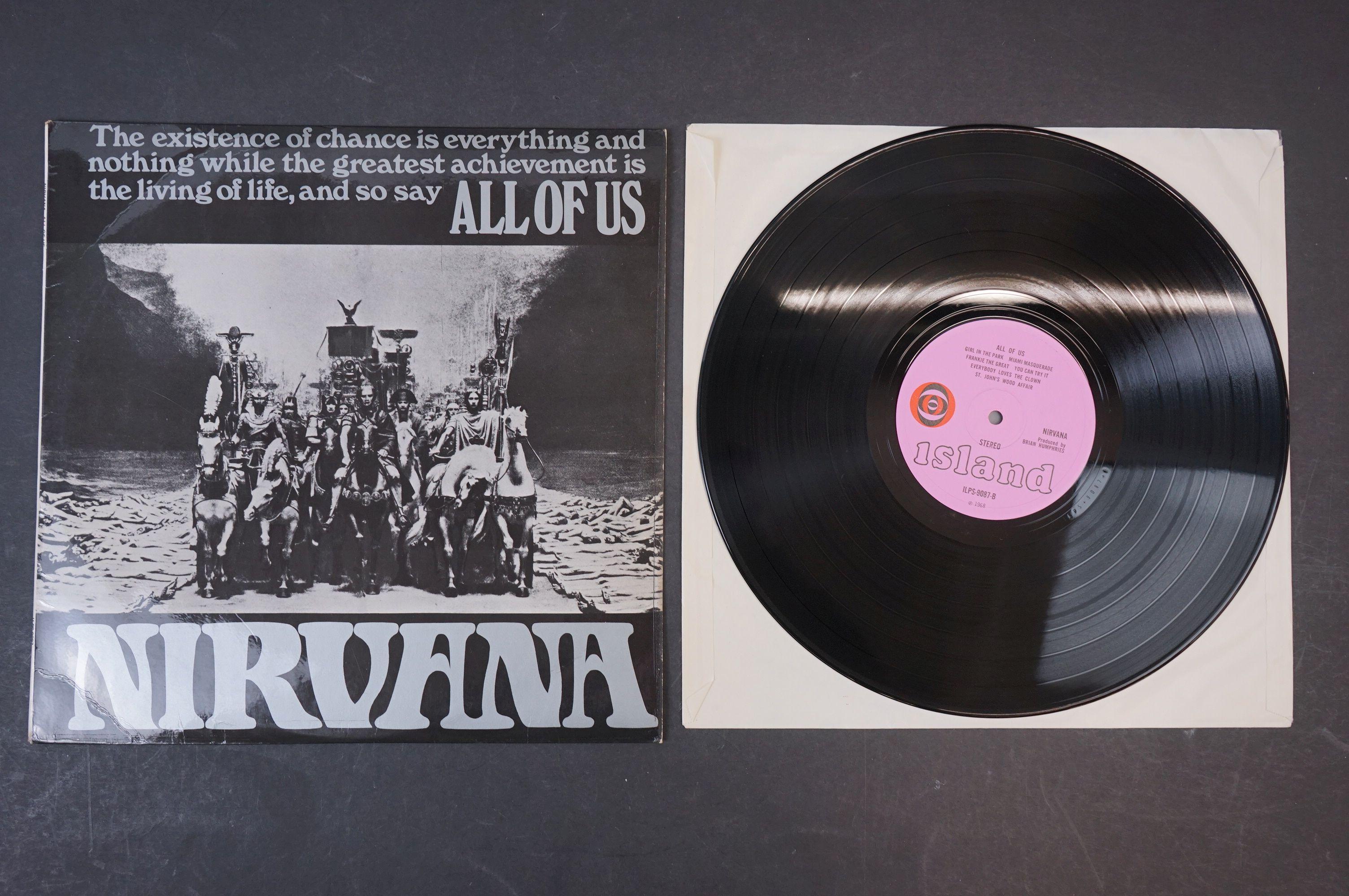 Vinyl - Nirvana All Of Us LP on Island ILPS 9087 with pink label, orange/black circle logo, - Image 2 of 6