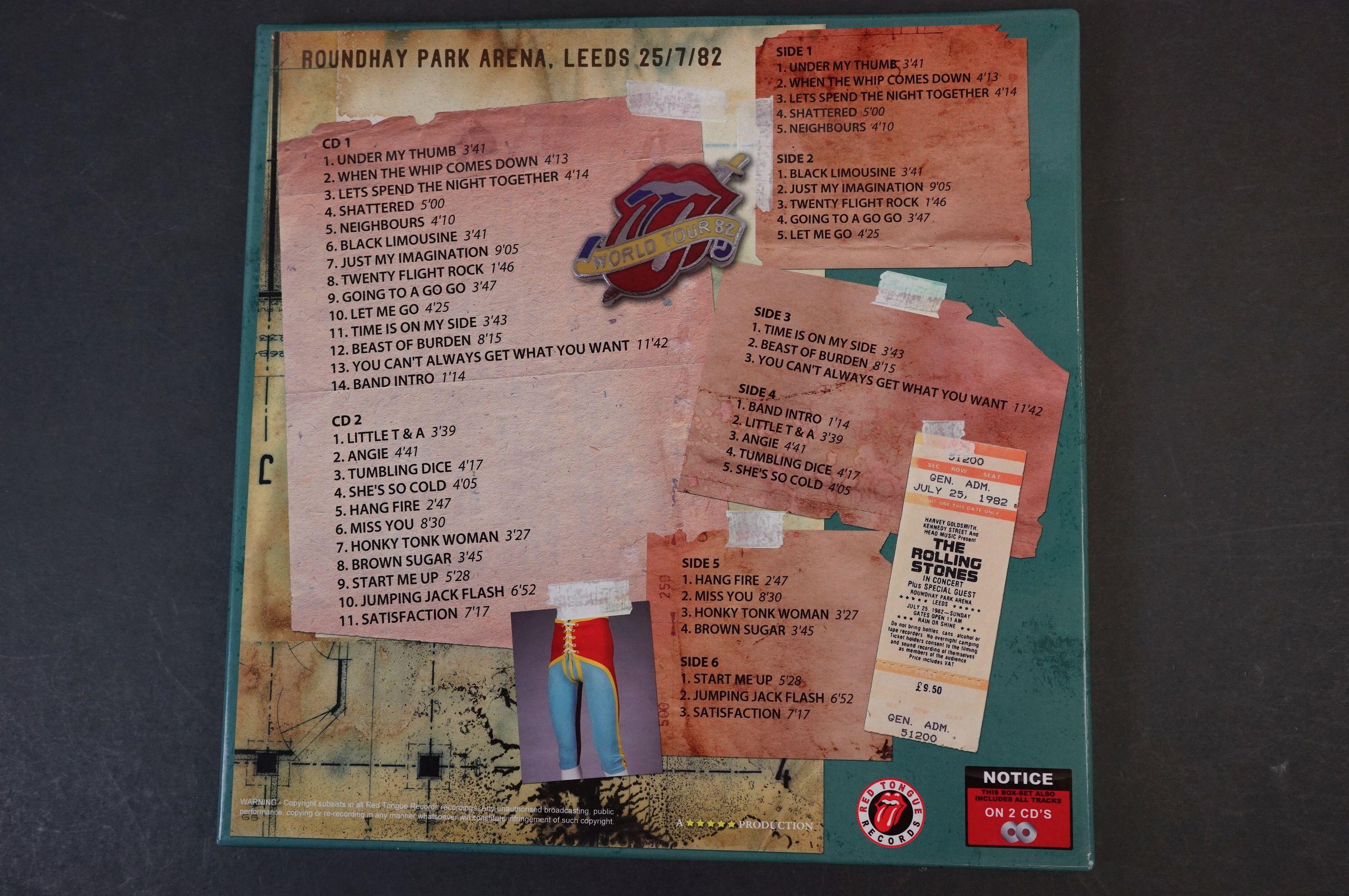 Vinyl - ltd edn The Real Alternate Album Rolling Stones Leeds July 25 1982 3 LP / 2 CD Box Set RTR - Image 8 of 10