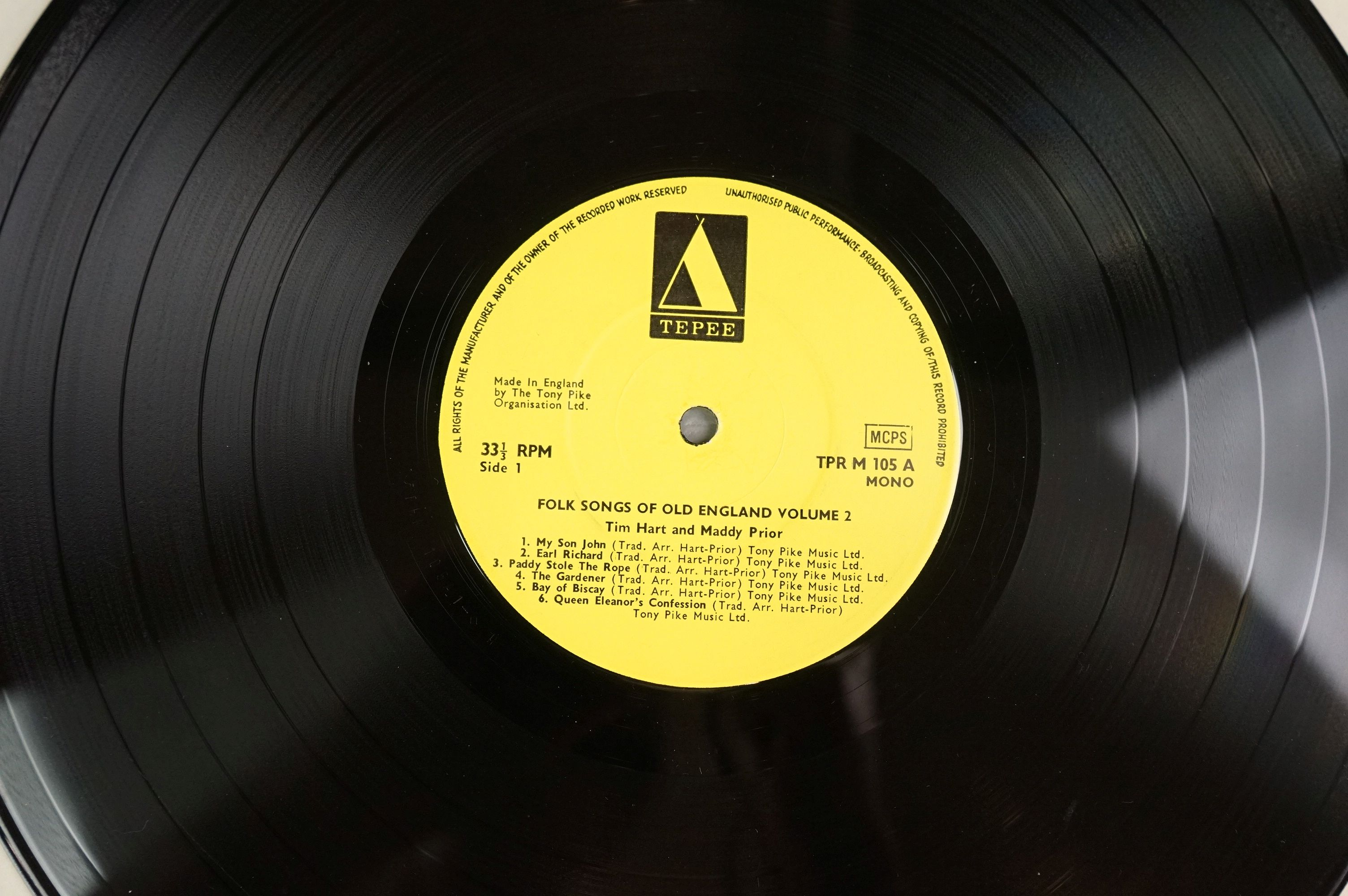 Vinyl - Tim Hart Maddy Prior Folk Songs of Old England vol 2 Tepee105 on Yellow Tepee Label, - Image 4 of 4