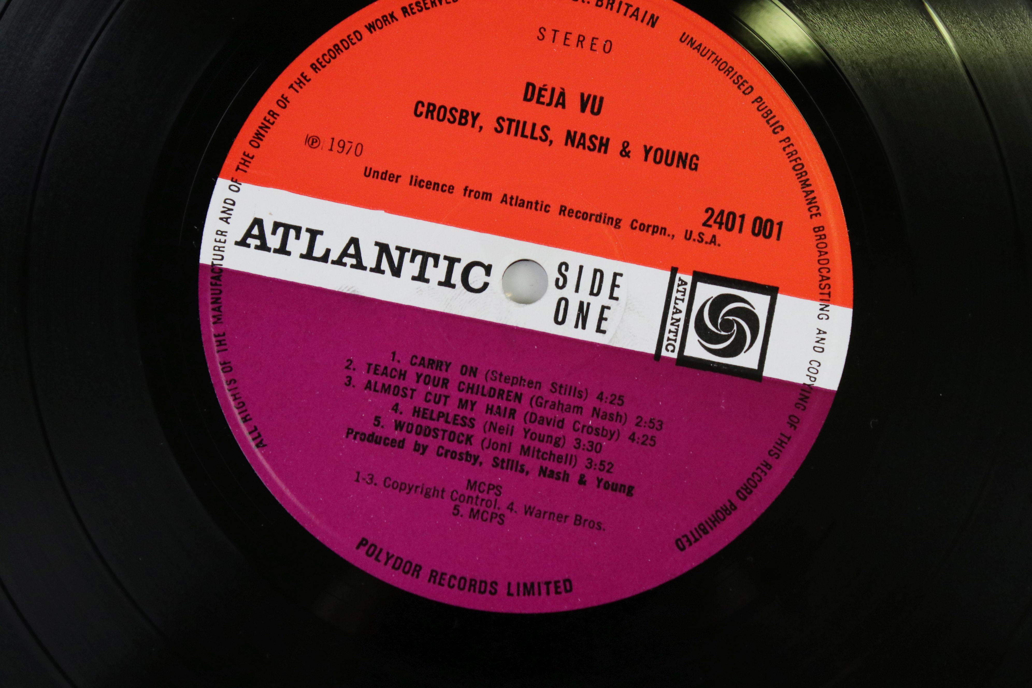 Vinyl - Crosby, Stills, Nash & Young Deja Vu (Atlantic 2401 001) red and plum Atlantic label with - Image 4 of 4