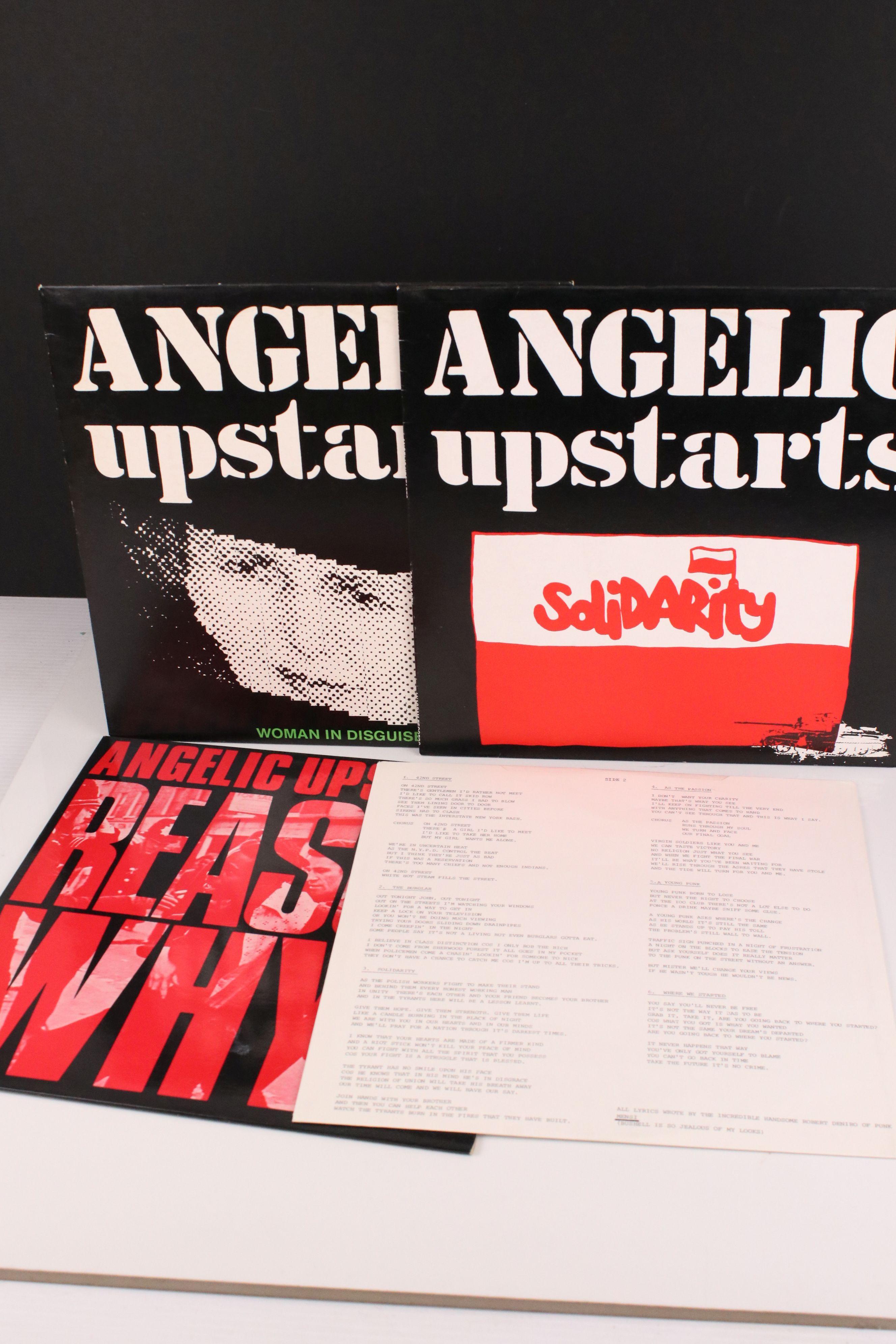 "Vinyl - Punk - Angelic Upstarts - Reason Why? LP plus 2 x 12"" singles (Solidarity & Woman In"
