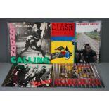 Vinyl - Five The Clash vinyl LP's to include London Calling (CBS Records CBS CLASH 3), Give 'Em