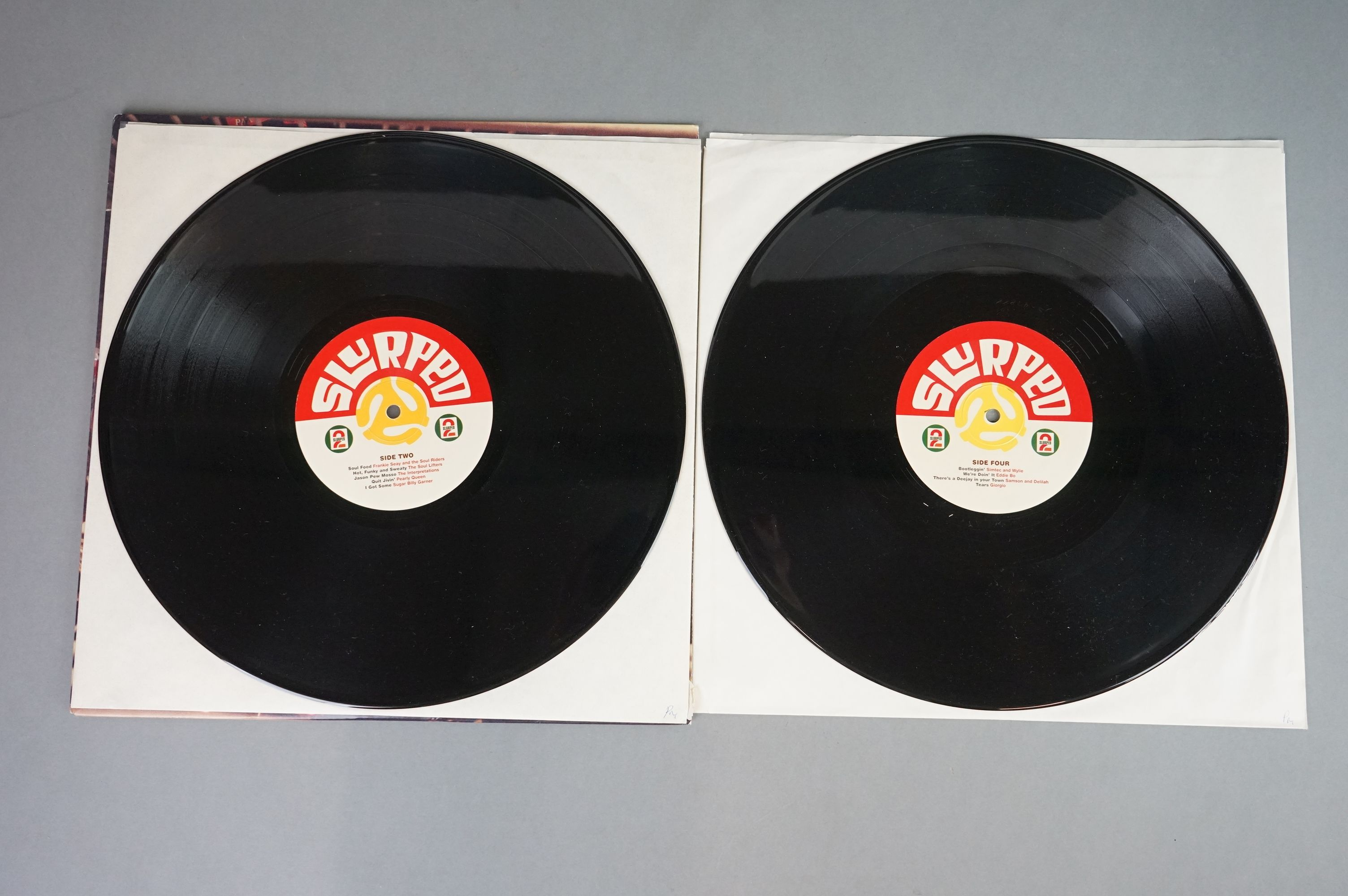 """Vinyl - Slurped Too! 2LP Compilation and 3 x Peanut Butter Wolf 12"""" singles to include Run The - Image 10 of 11"""