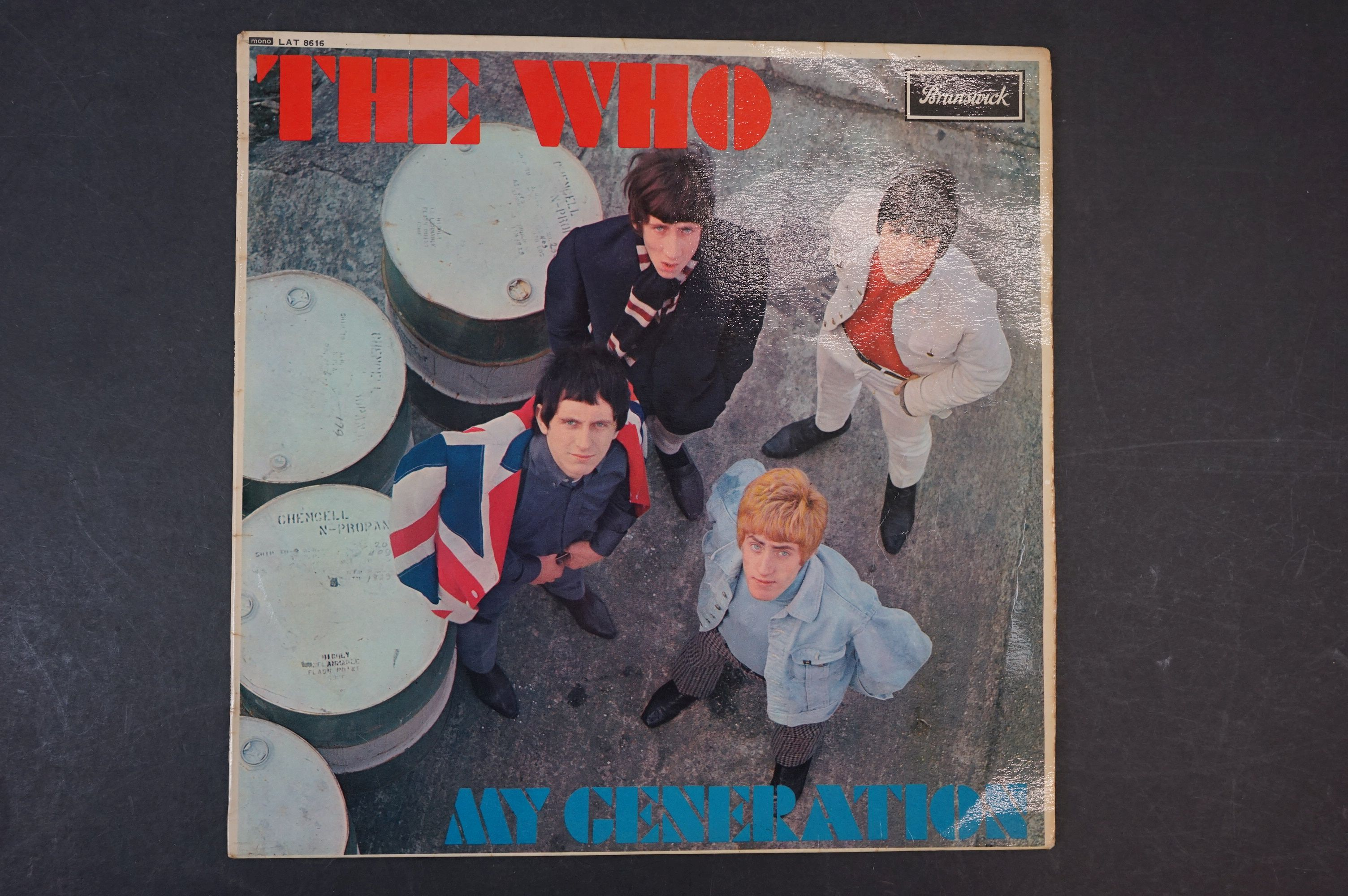 Vinyl - The Who My Generation LP on Brunswick LAT8616 mono with laminated front sleeve, silver & - Image 7 of 8