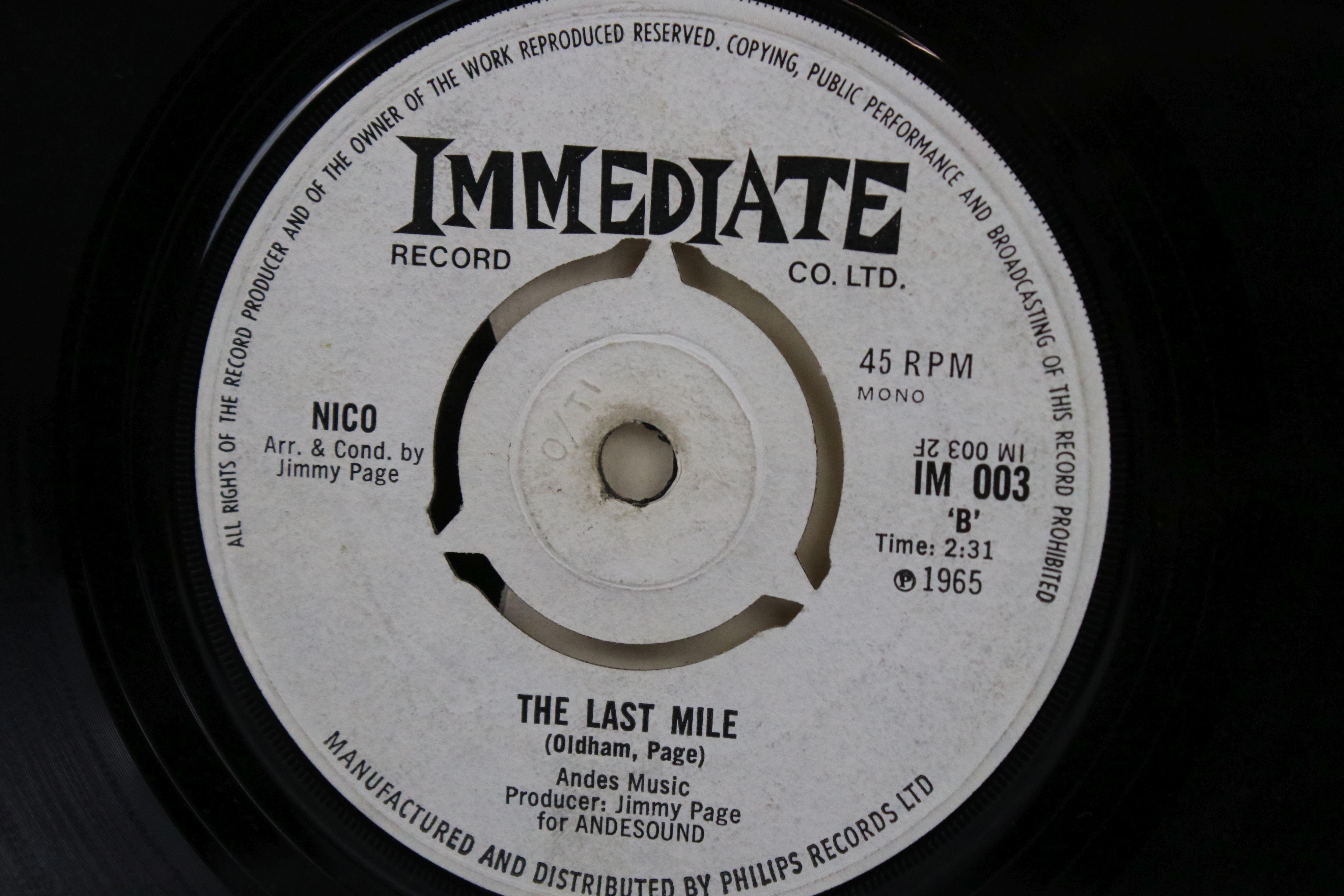 Vinyl - Nico I'm Not Sayin / The Last Mile 45 on Immediate IM003 in company sleeve, vg - Image 4 of 5