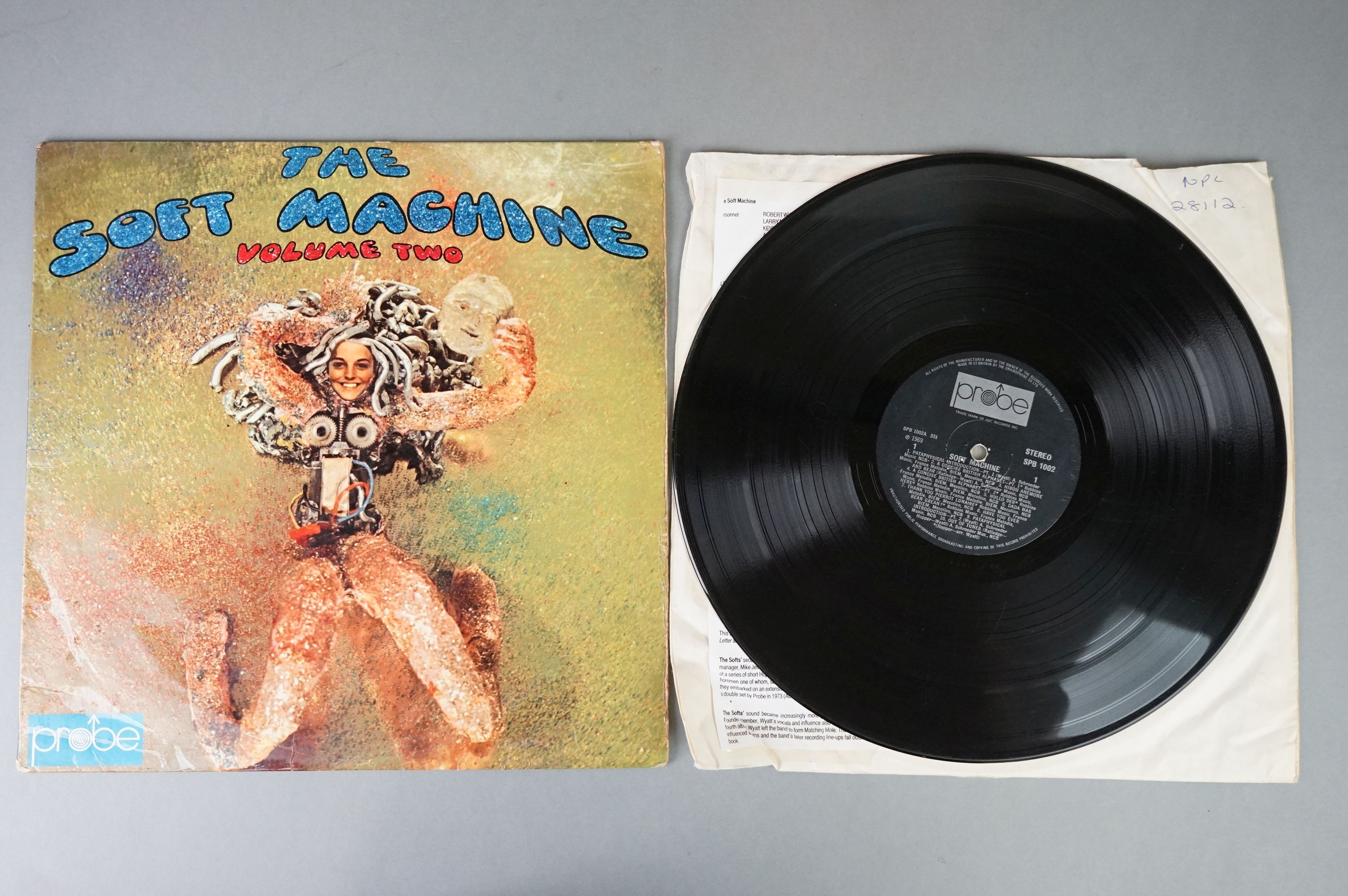 Vinyl - Two Soft Machine vinyl LP's to include Softs (EMI Records SHSP 4056), Volume Two (Probe - Image 2 of 9