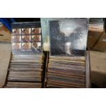Vinyl - Around 200 LPs featuring Country and other genres, sleeves and vinyl vg+ (two boxes)