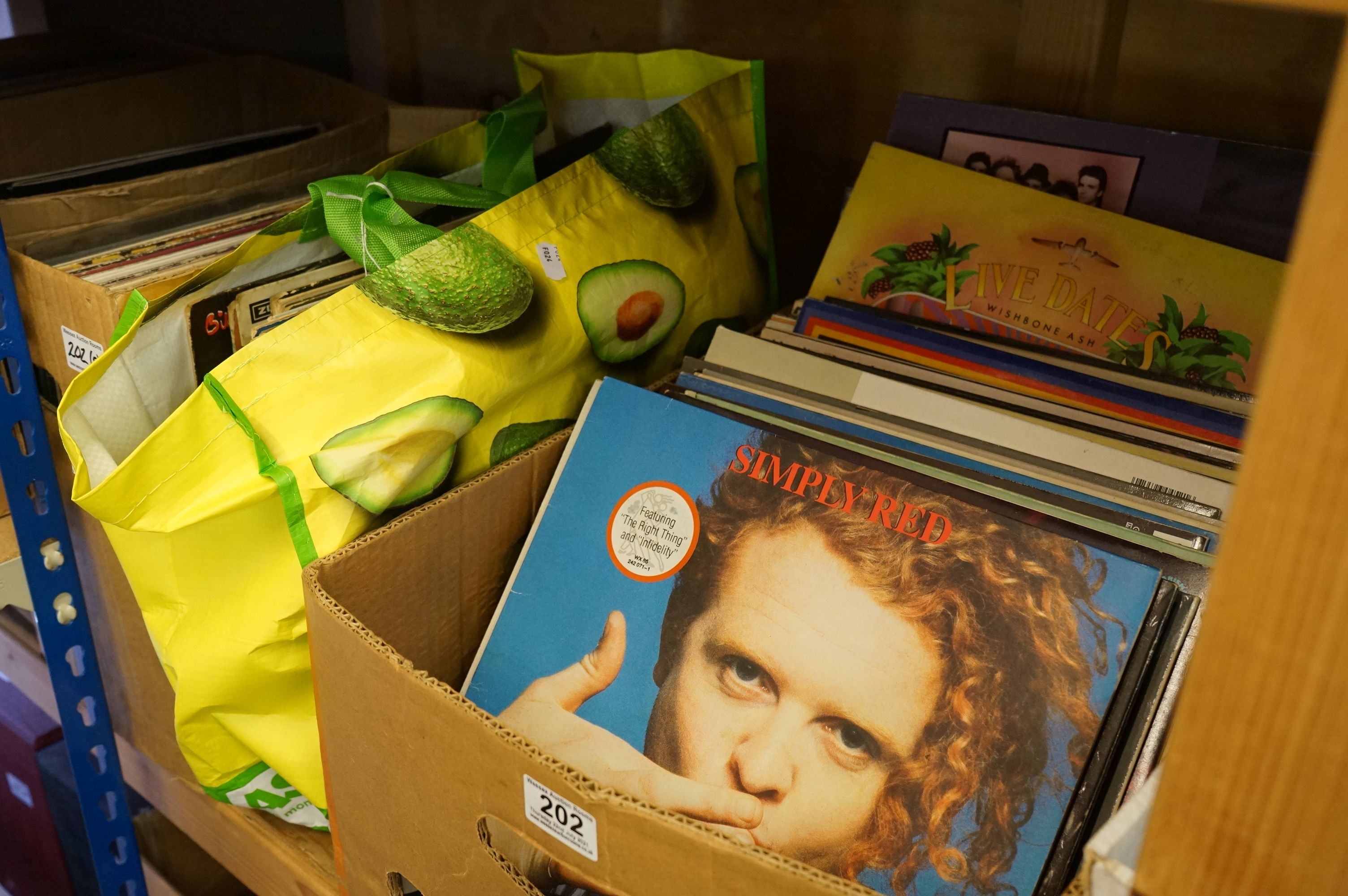 """Vinyl - Approx 120 vinyl LP's and 12"""" Singles mainly rock and pop to include Meat Loaf, Genesis,"""