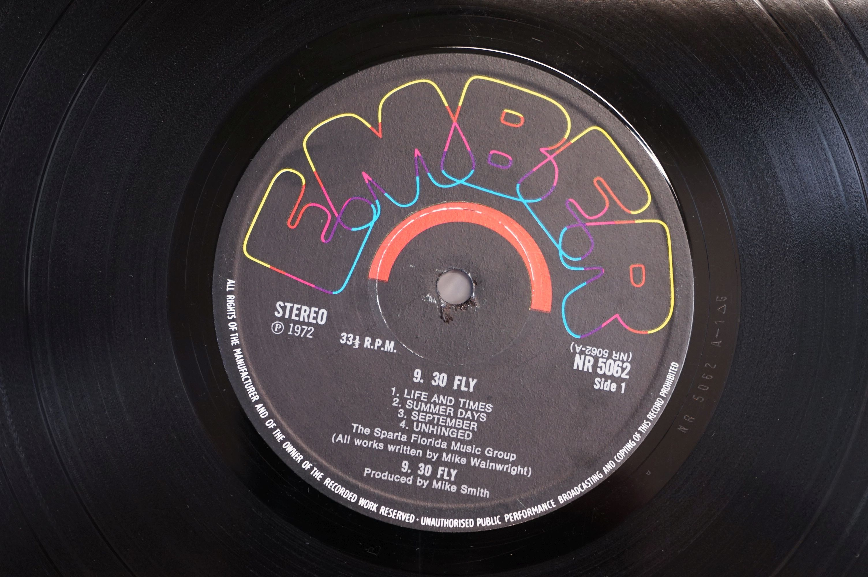 Vinyl - 9.30 Fly self titled LP on Ember NR5062 stereo, textured gatefold sleeve, writing to - Image 6 of 7