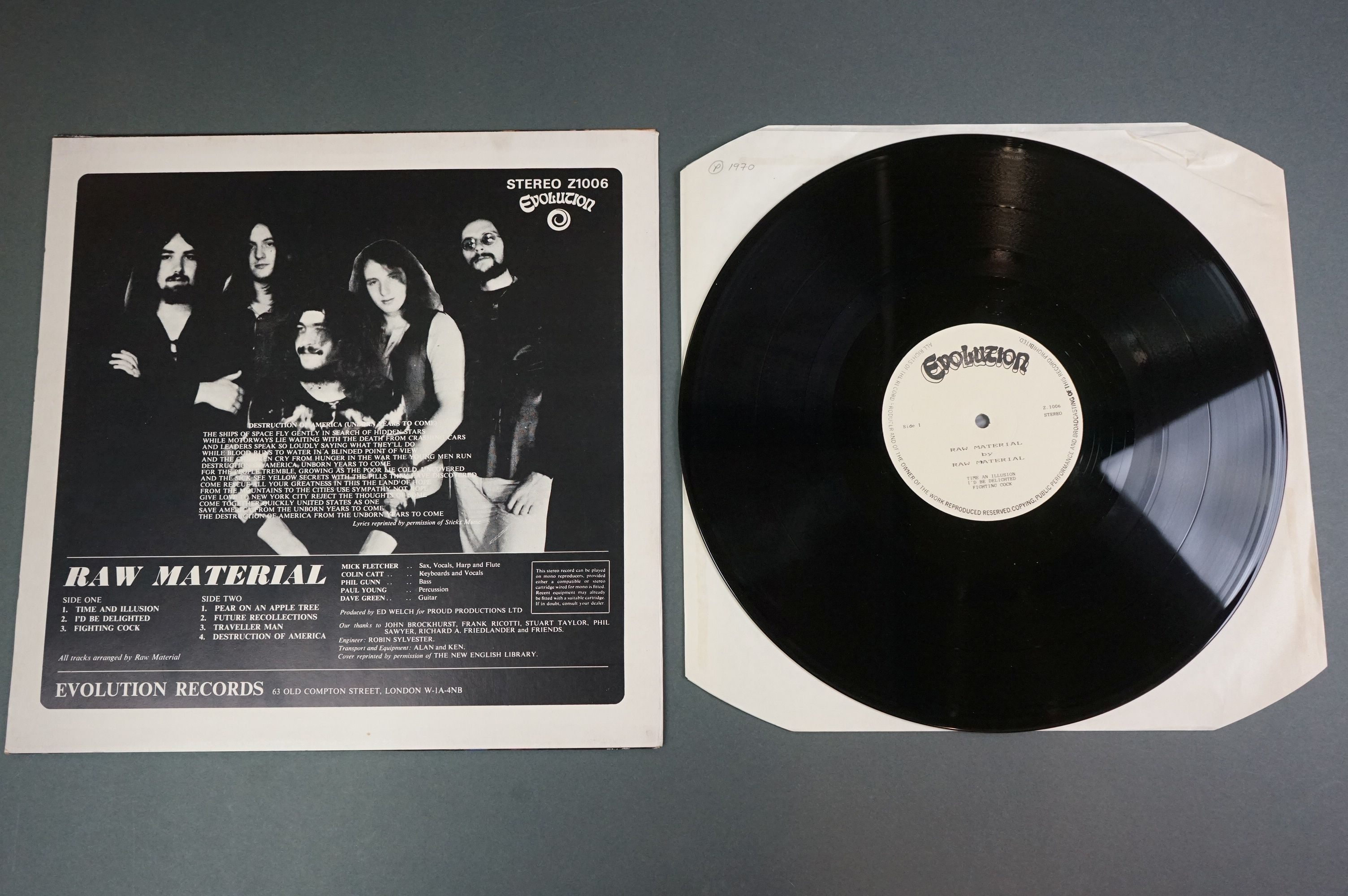 Vinyl - Two unofficial Raw Materials release LPs to include Time Is (NE8) and self titled (Z1006), - Image 6 of 6