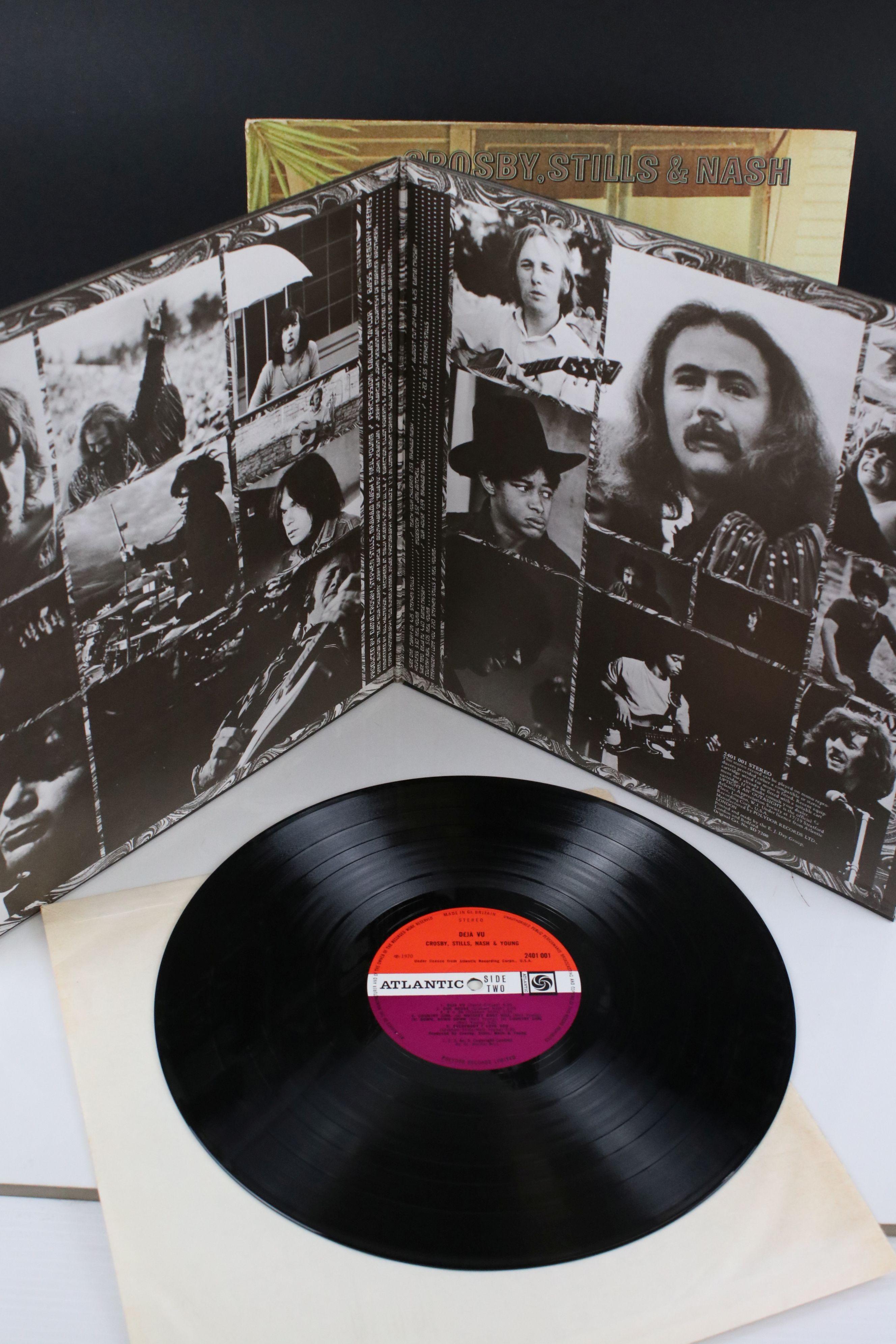 Vinyl - Crosby, Stills, Nash & Young Deja Vu (Atlantic 2401 001) red and plum Atlantic label with - Image 2 of 4