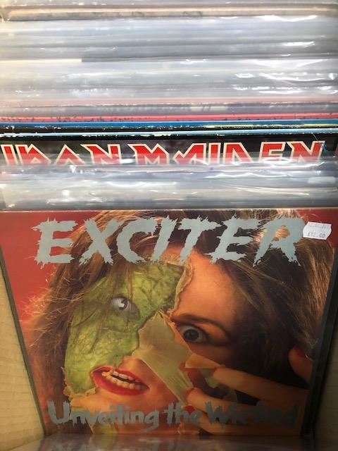 Vinyl - Approx 65 Rock & Metal LP's featuring KISS, Queen, Black Widow, Iron Maiden, AC/DC and more - Image 14 of 27