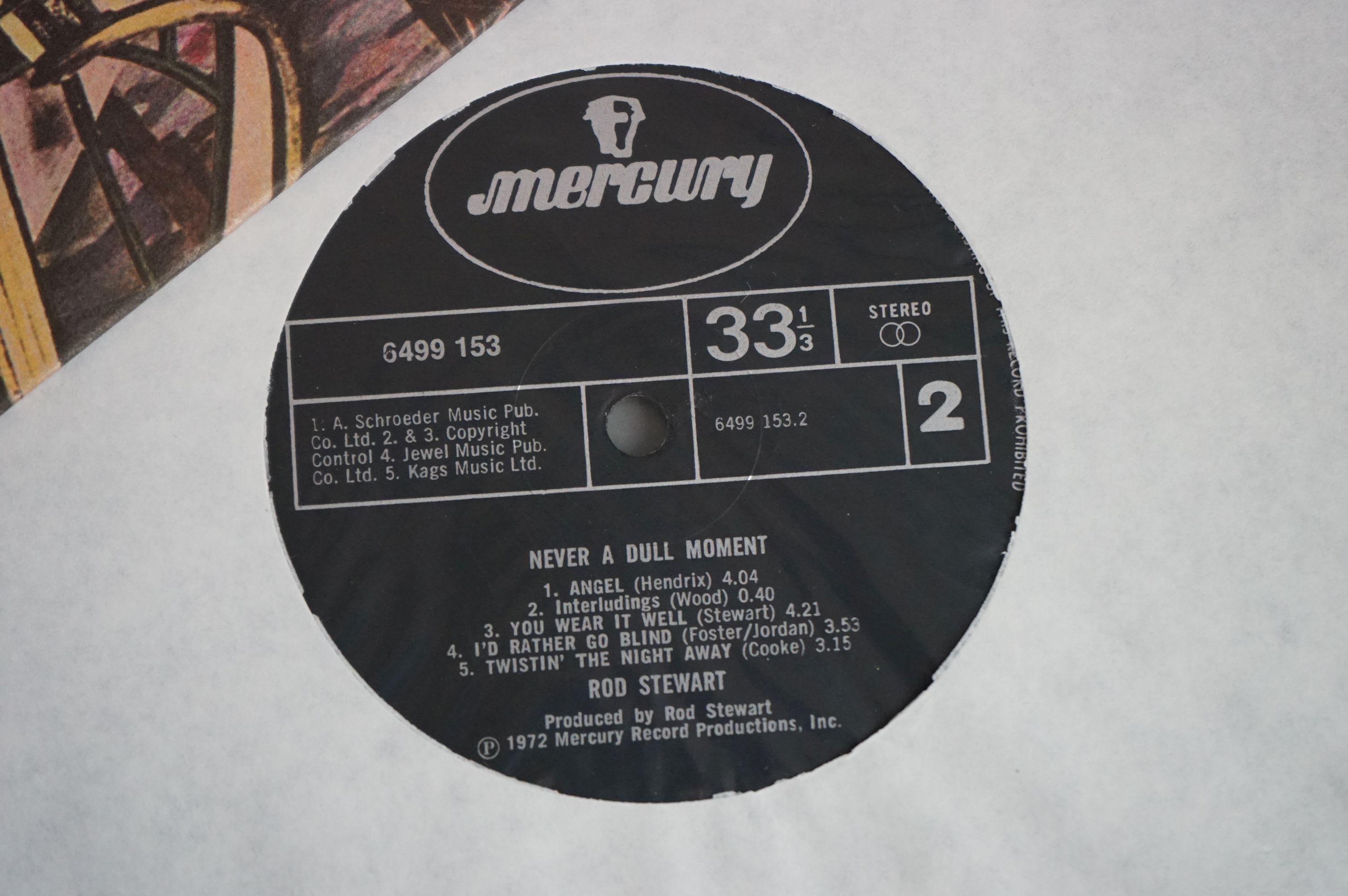 Vinyl - Rod Stewart 4 LP's to include An Old Raincoat Won't Ever Let You Down (Vertigo VO4) gatefold - Image 3 of 14