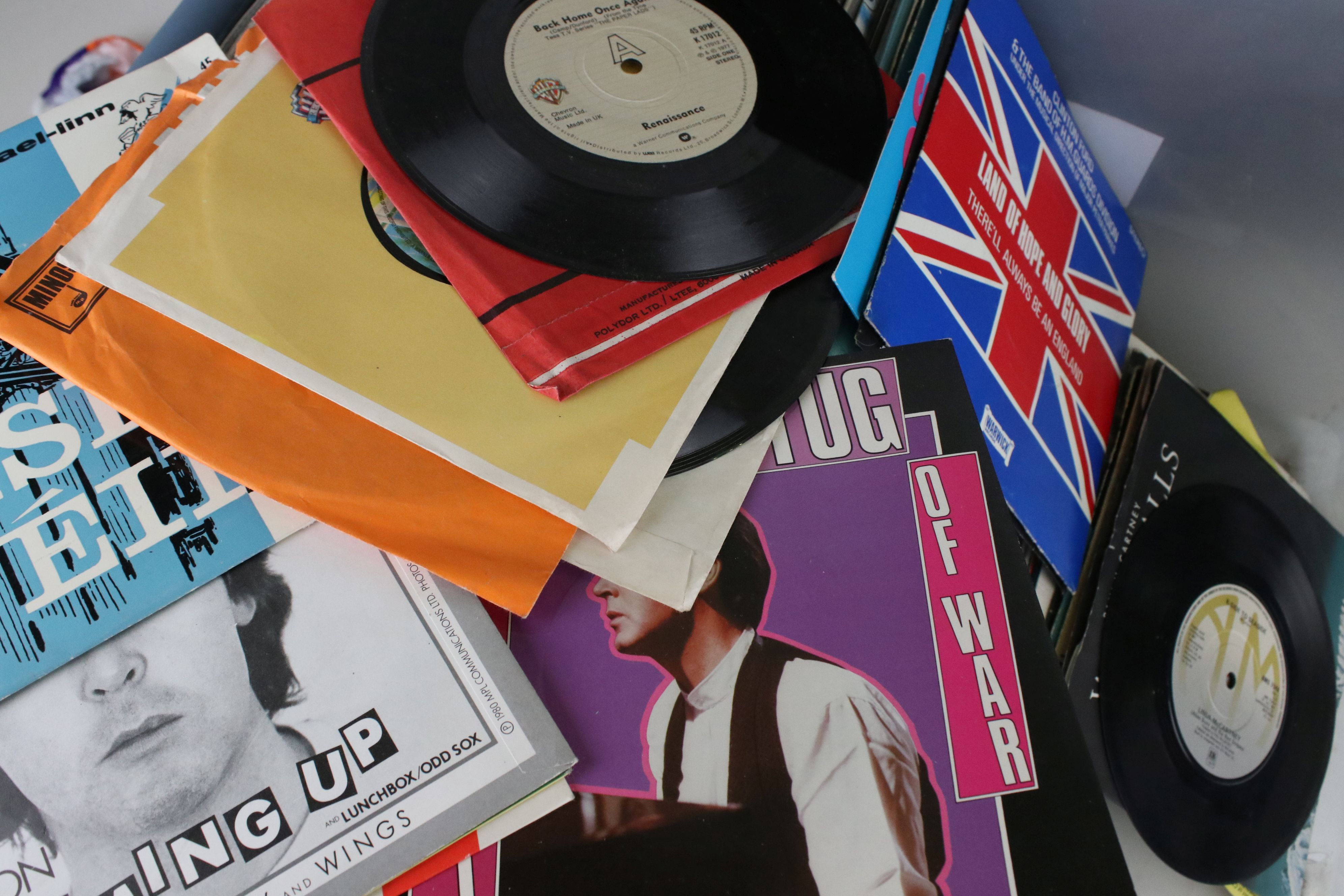 """Vinyl - Around 60 Pop and Rock LPs to include some 7"""" singles, artists feature The Eagles, ELP, Mike - Image 2 of 12"""