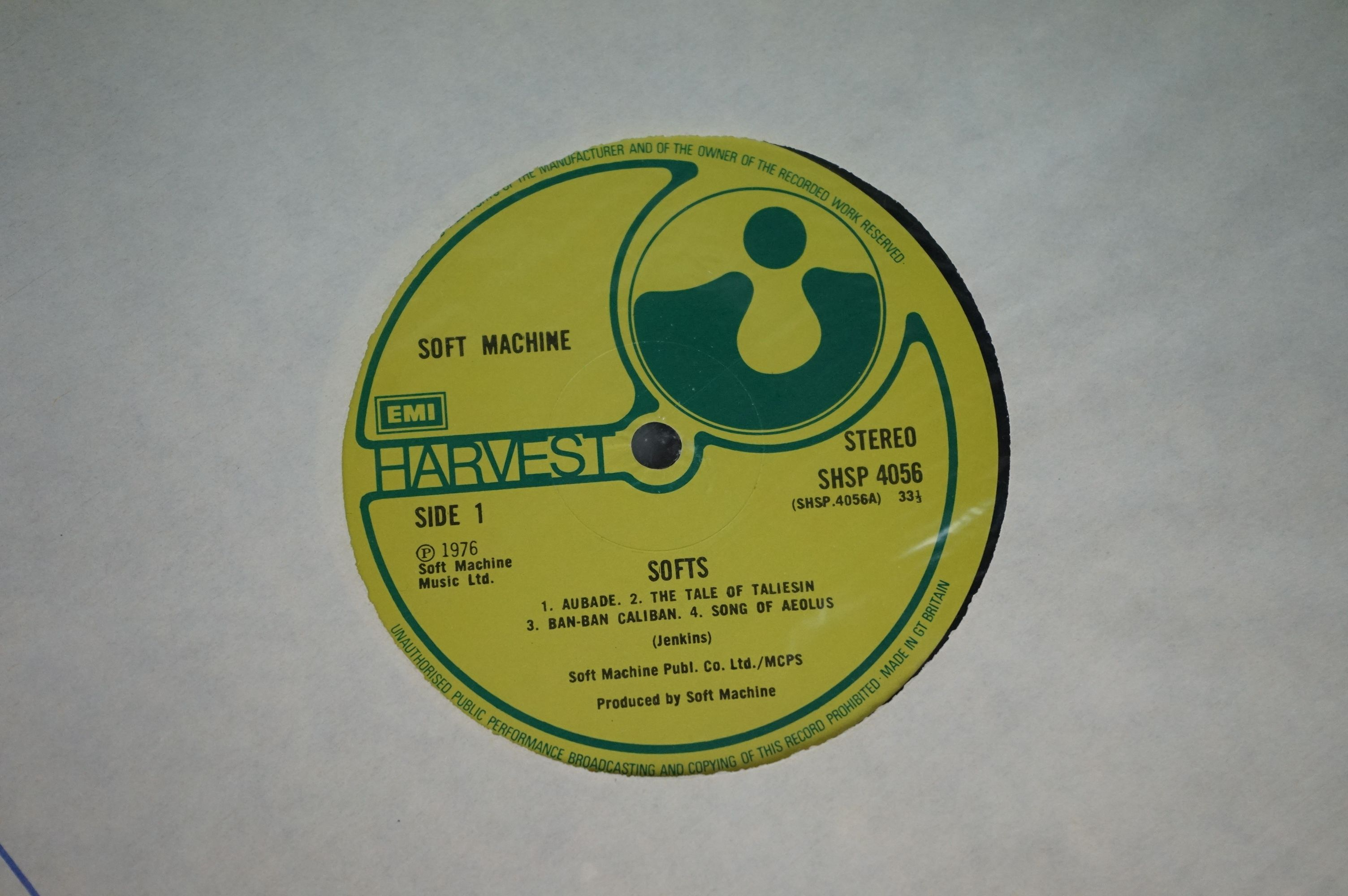 Vinyl - Two Soft Machine vinyl LP's to include Softs (EMI Records SHSP 4056), Volume Two (Probe - Image 9 of 9