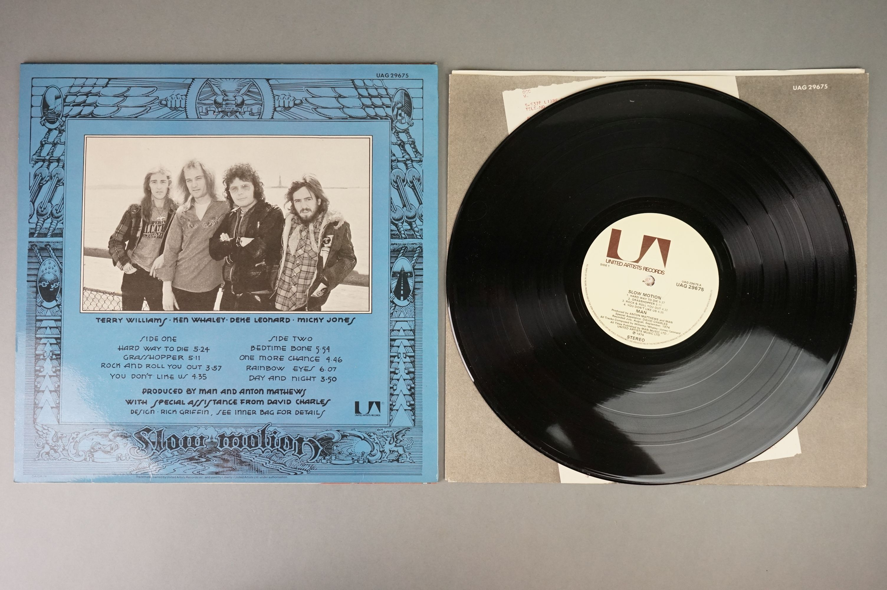 Vinyl - Man 2 LP's to include Slow Motion (UAG 29675) and Do You Like It Here (UAG 29236). Sleeves & - Image 6 of 7