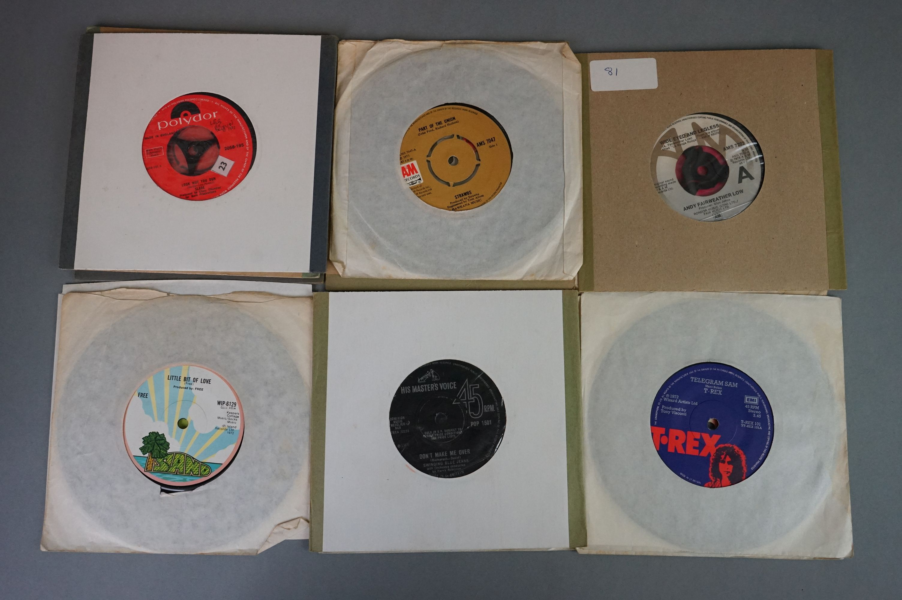"""Vinyl - 100+ 7"""" singles/EPs, mostly 1960s/1970s rock & pop, to include Rolling Stones, Beatles, Who, - Image 4 of 4"""