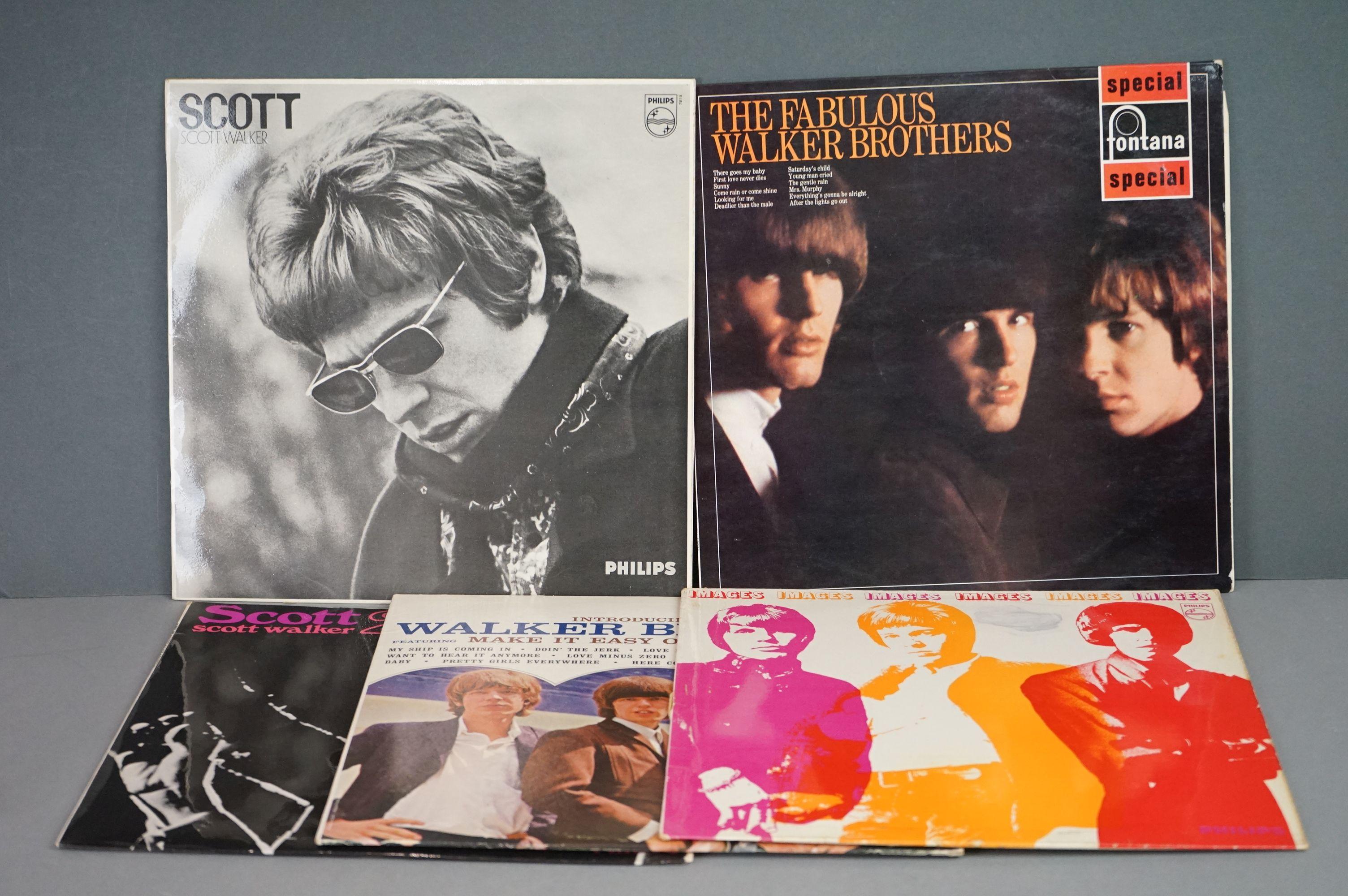 Vinyl - Five Walker Brothers vinyl LP's to include Scott (Phillips Records BL 7816), The Fabulous