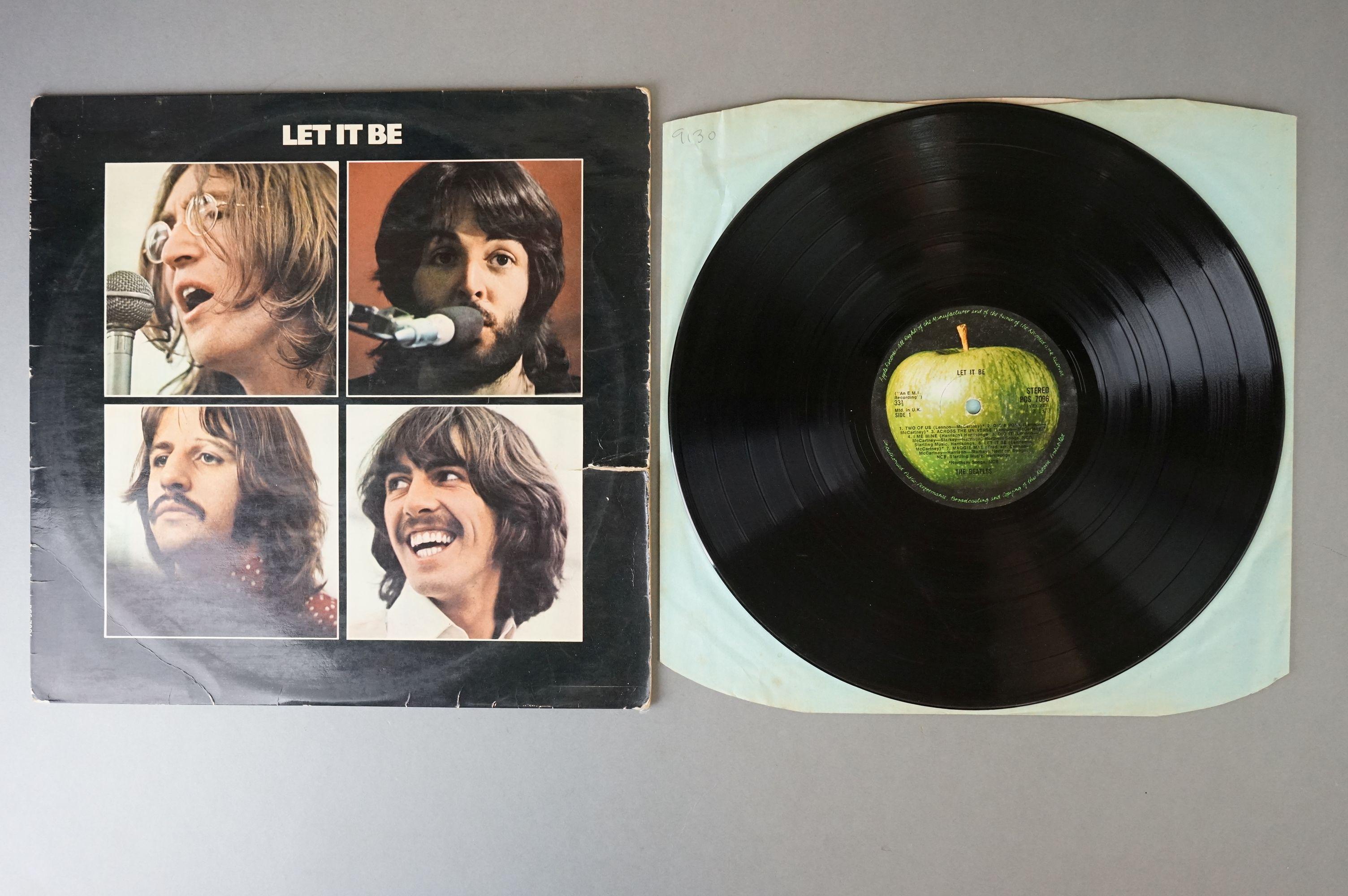 Vinyl - The Beatles & John Lennon 3 LP's to include Let It Be (PCS 7096) Stereo, incorrect inner, - Image 7 of 8