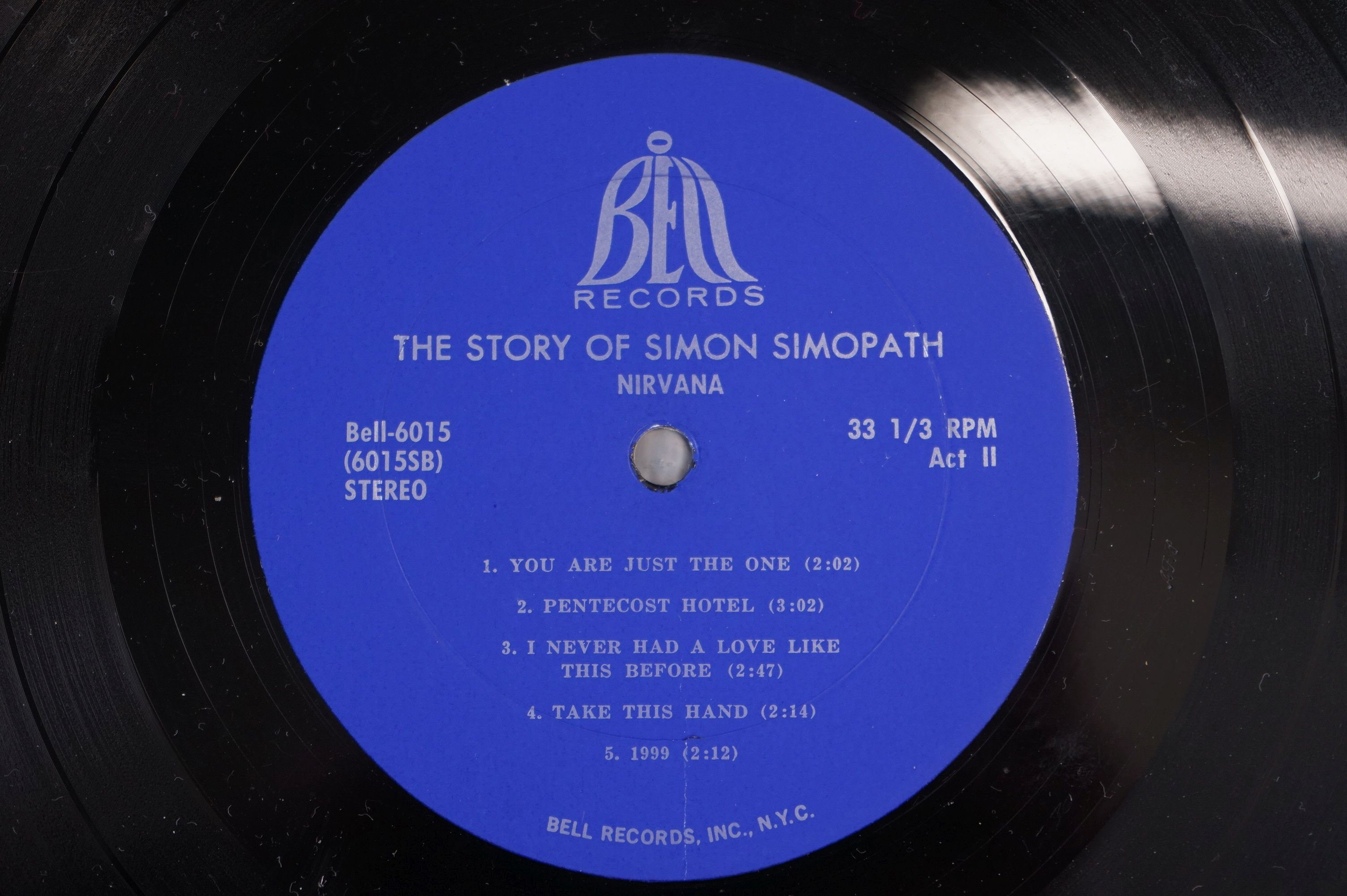 Vinyl - Two Nirvana LPs to include The Story of Simon Simopath LP on Bell Records 6015-S Stereo, - Image 3 of 13
