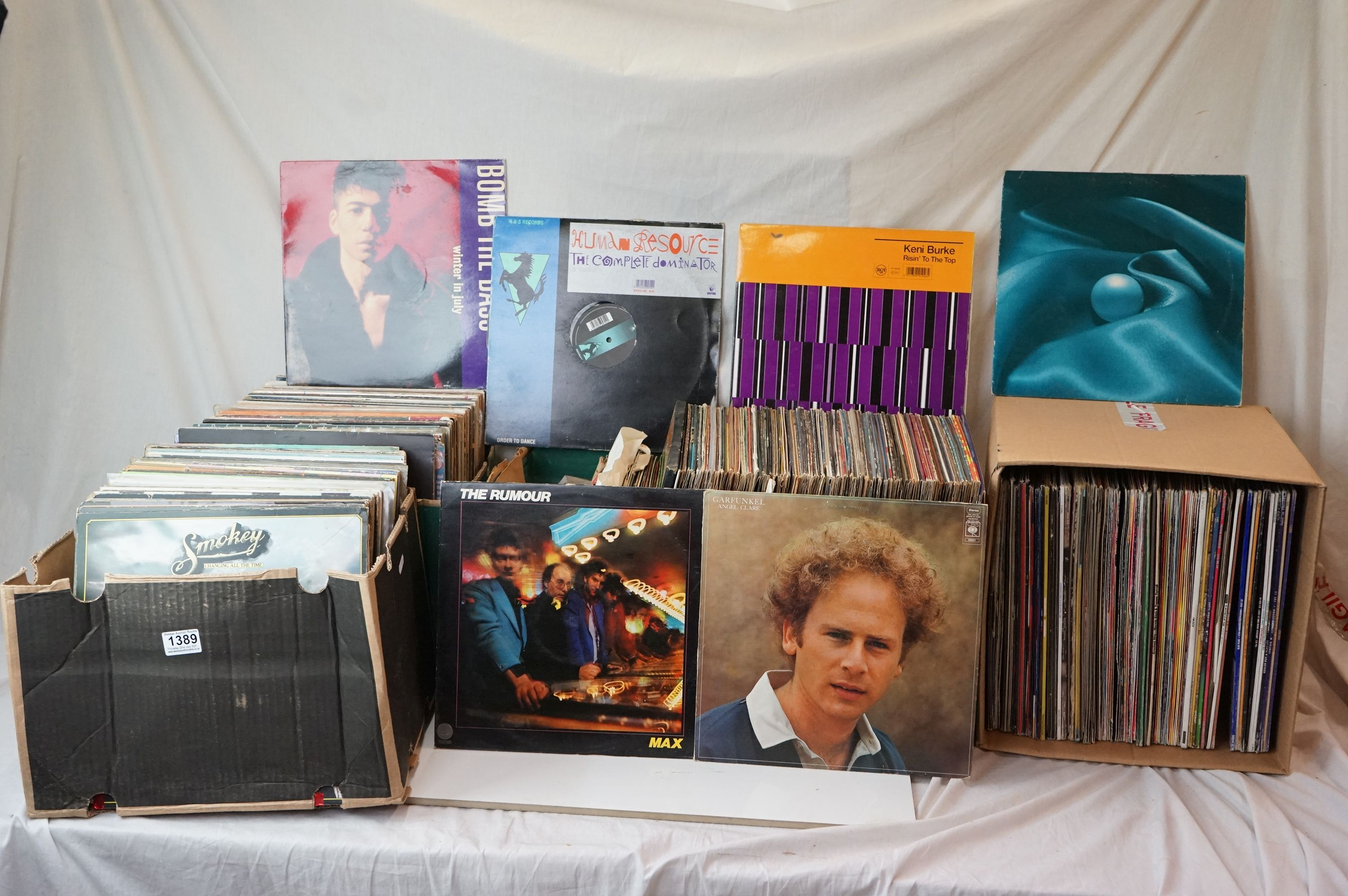 Vinyl - Large collection of LPs spanning the genres and decades (four boxes)