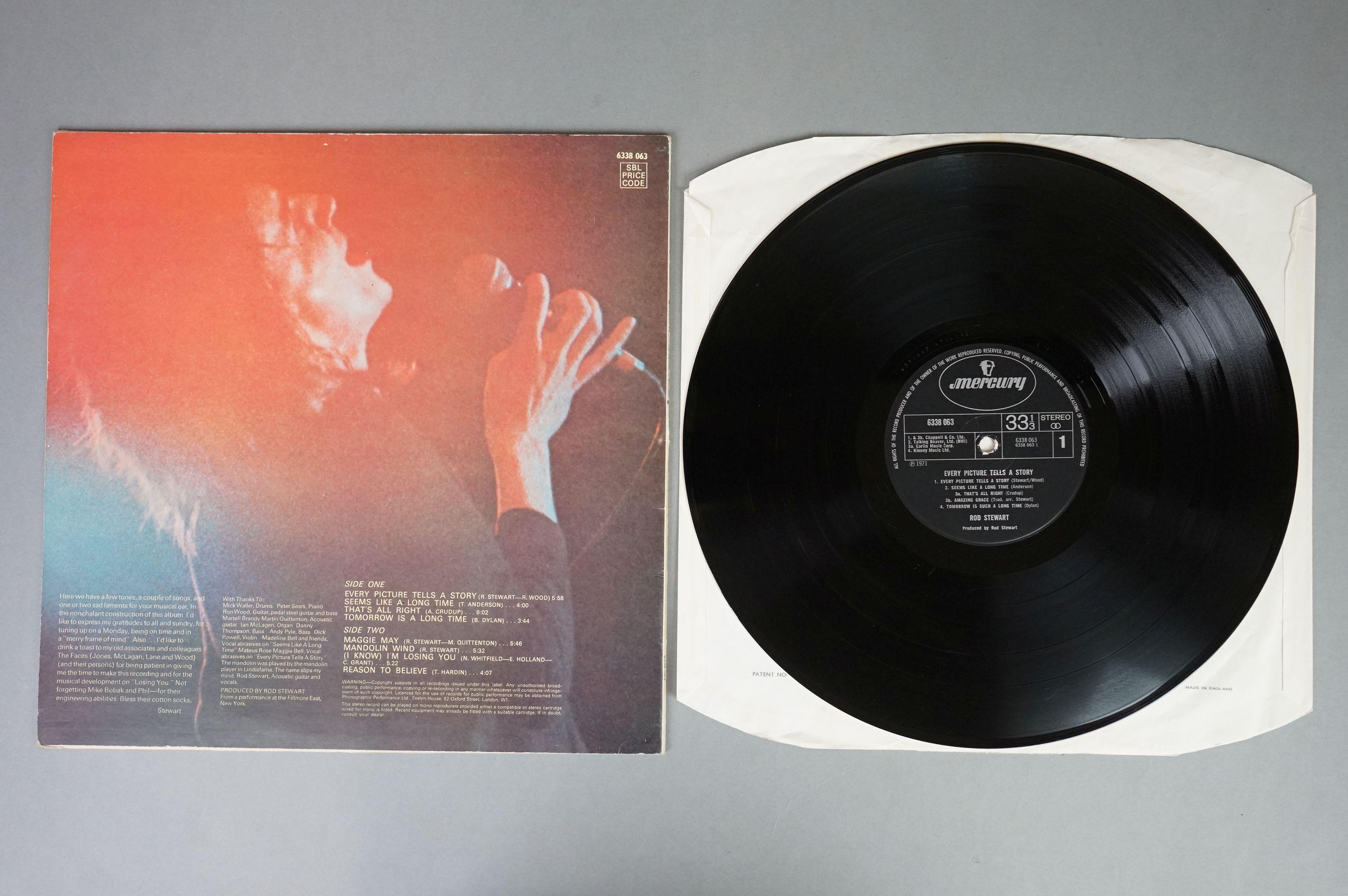Vinyl - Rod Stewart 4 LP's to include An Old Raincoat Won't Ever Let You Down (Vertigo VO4) gatefold - Image 8 of 14