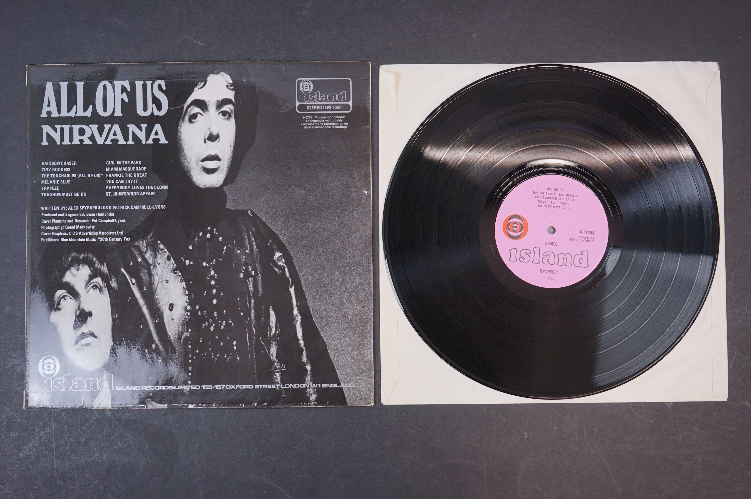 Vinyl - Nirvana All Of Us LP on Island ILPS 9087 with pink label, orange/black circle logo, - Image 3 of 6