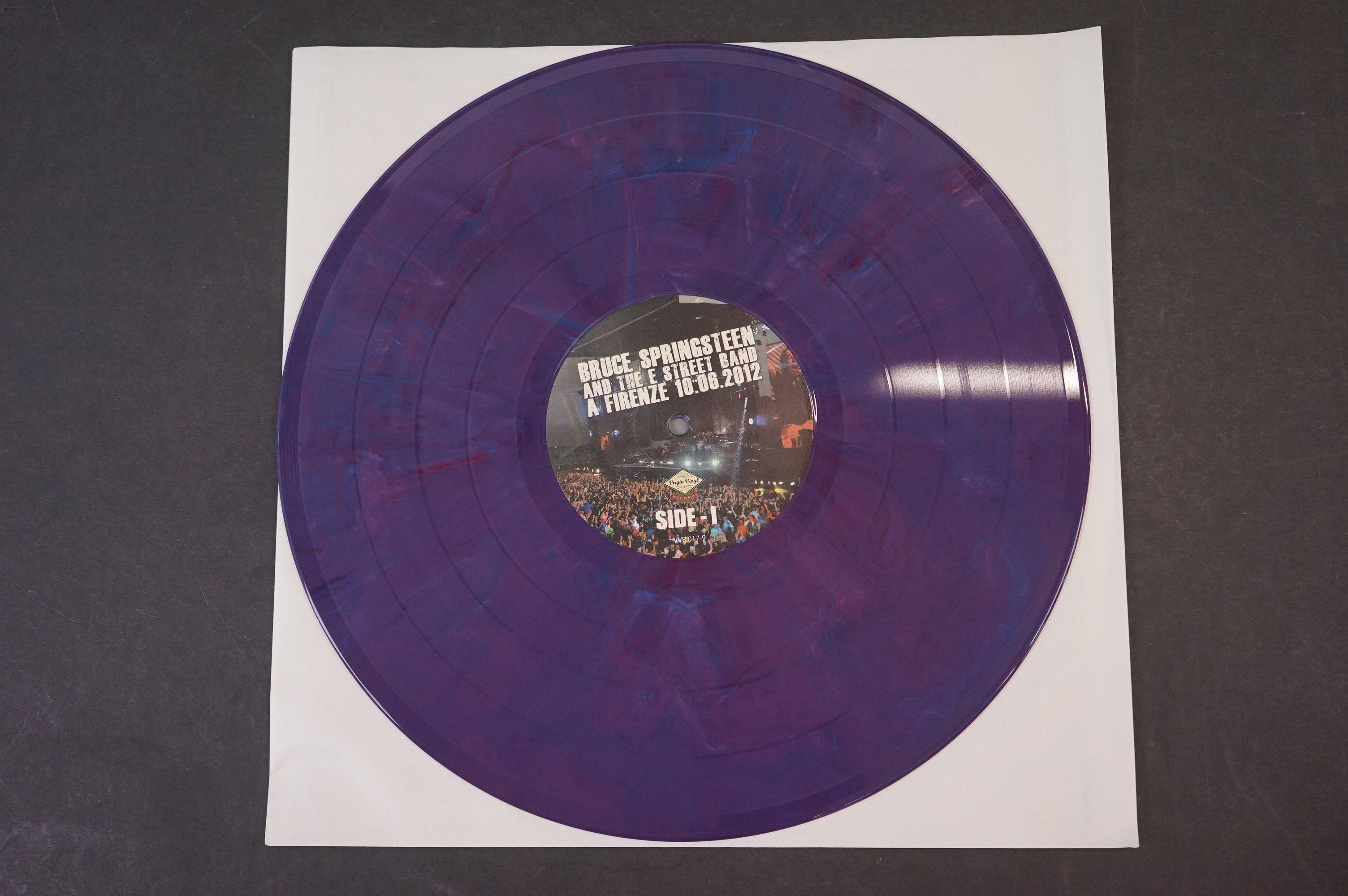 Vinyl - ltd edn Bruce Springsteen and The E Street Band A Firenze 10.06.2012 5 LP 3 CD 1 DVD heavy - Image 8 of 10
