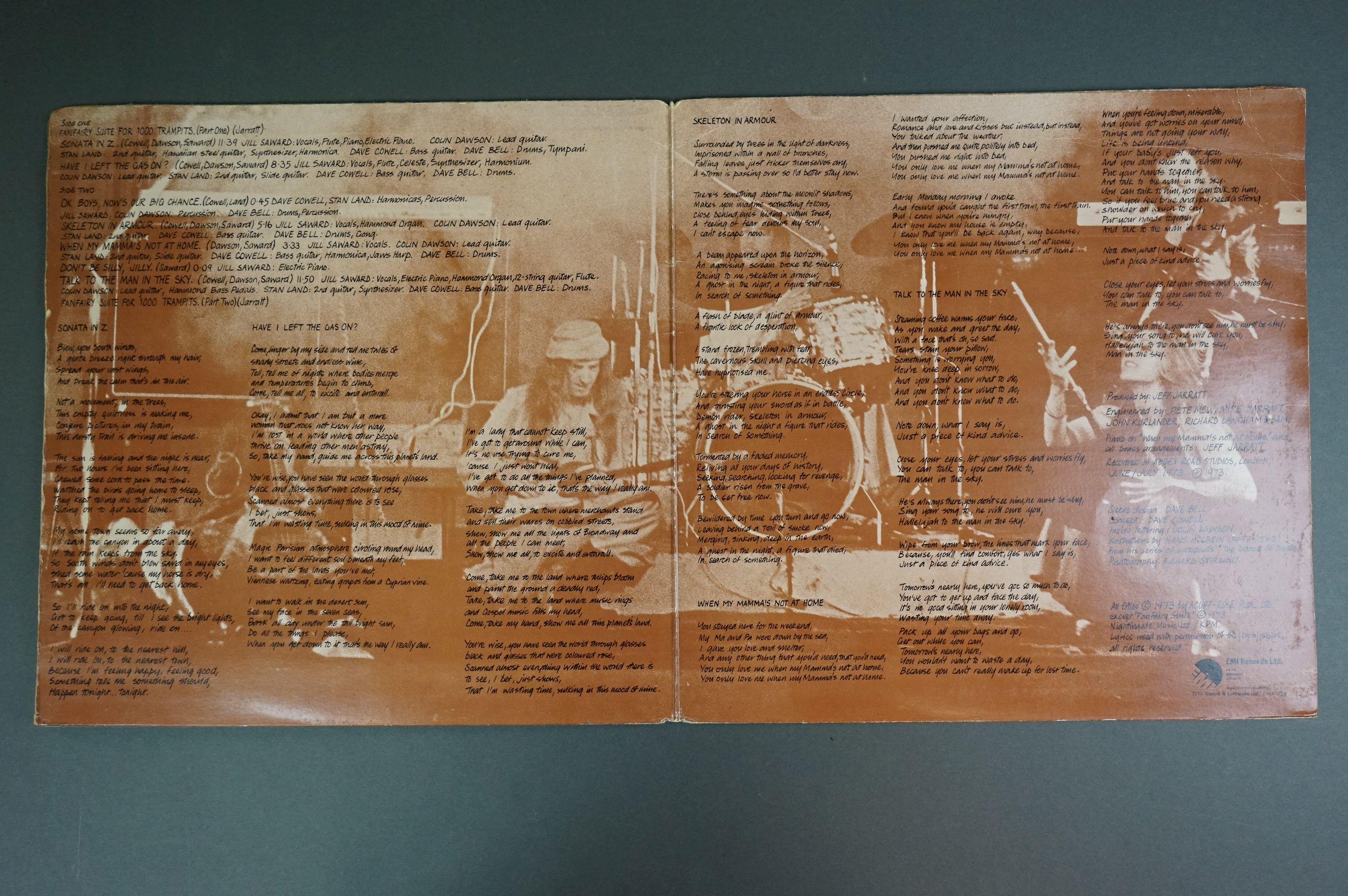 Vinyl - Fusion Orchestra Skeleton In Armour LP EMA758, sleeve vg+ with buffering to corners, - Image 2 of 6