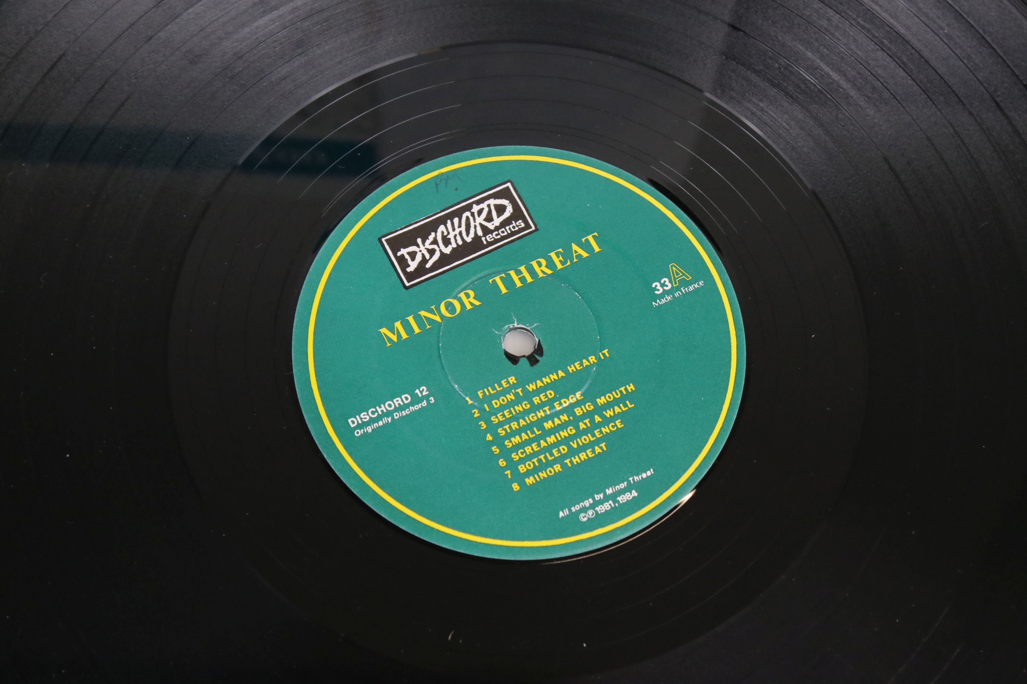 Vinyl - Two Minor Threat LPs to include Out of Step on Dischord No 10 and self titled No 13, both ex - Image 2 of 7