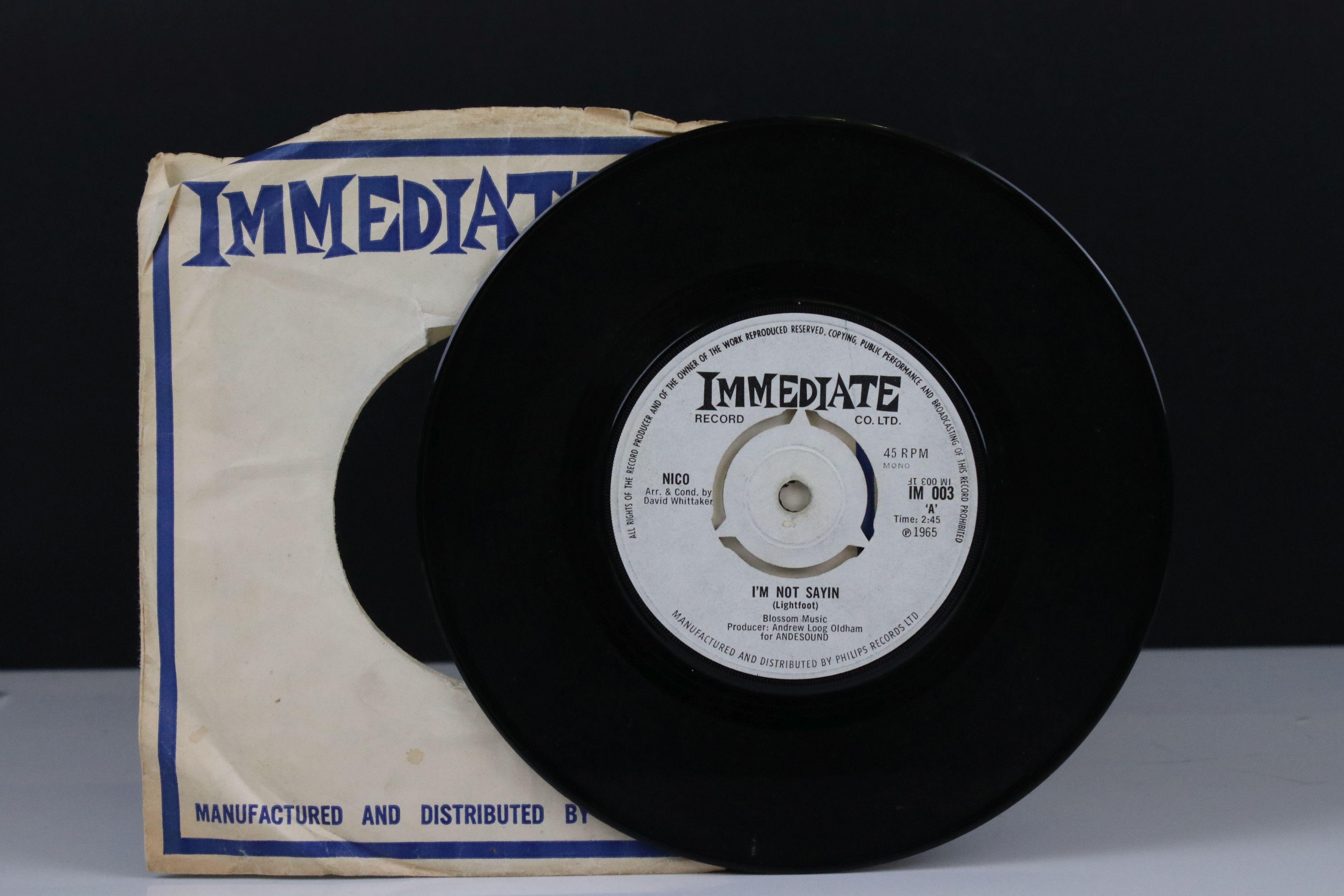 Vinyl - Nico I'm Not Sayin / The Last Mile 45 on Immediate IM003 in company sleeve, vg