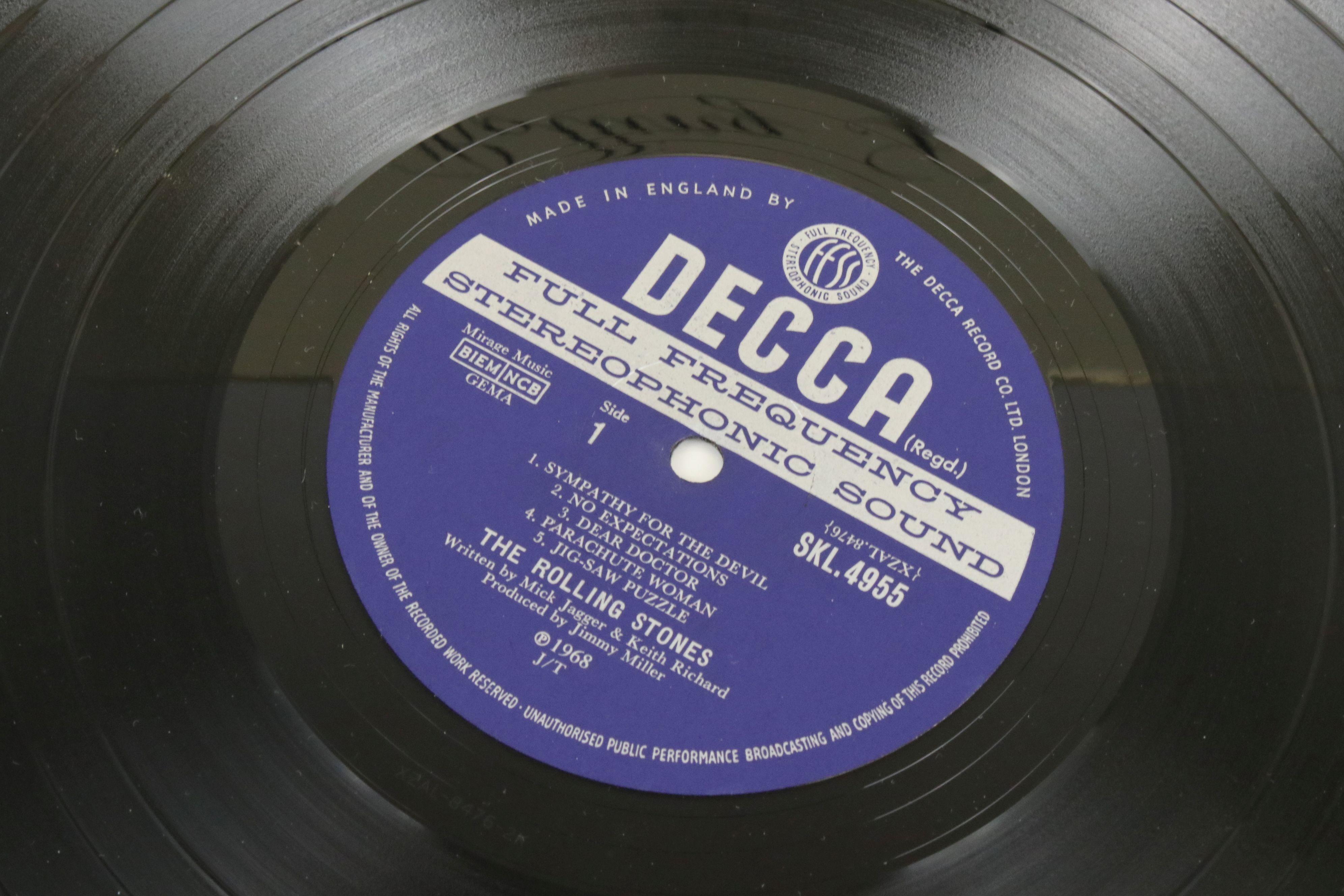 Vinyl - The Rolling Stones Beggars Banquet (SKL 4955) blue Decca label, Mirage Music, titles - Image 3 of 6