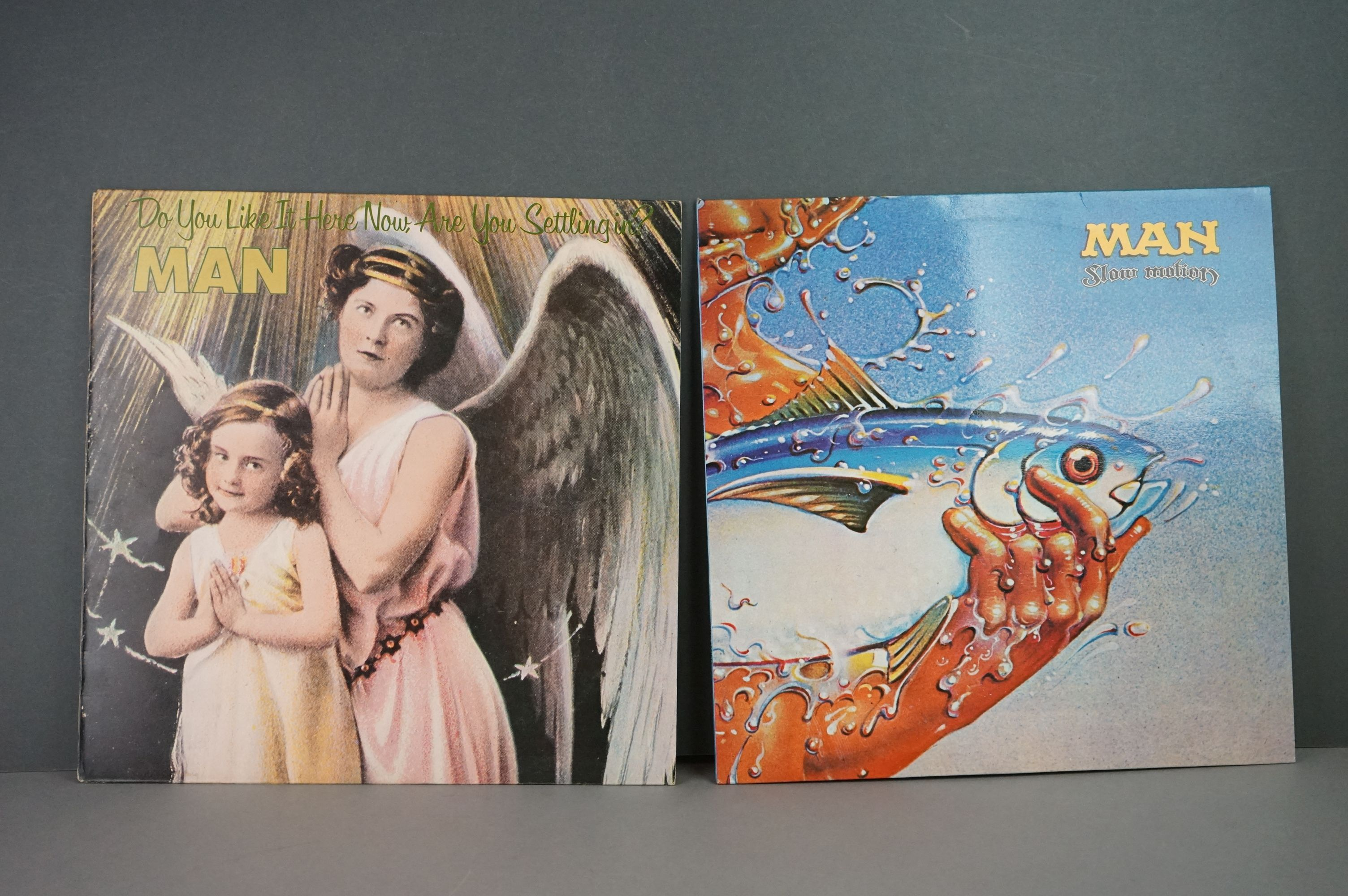 Vinyl - Man 2 LP's to include Slow Motion (UAG 29675) and Do You Like It Here (UAG 29236). Sleeves &