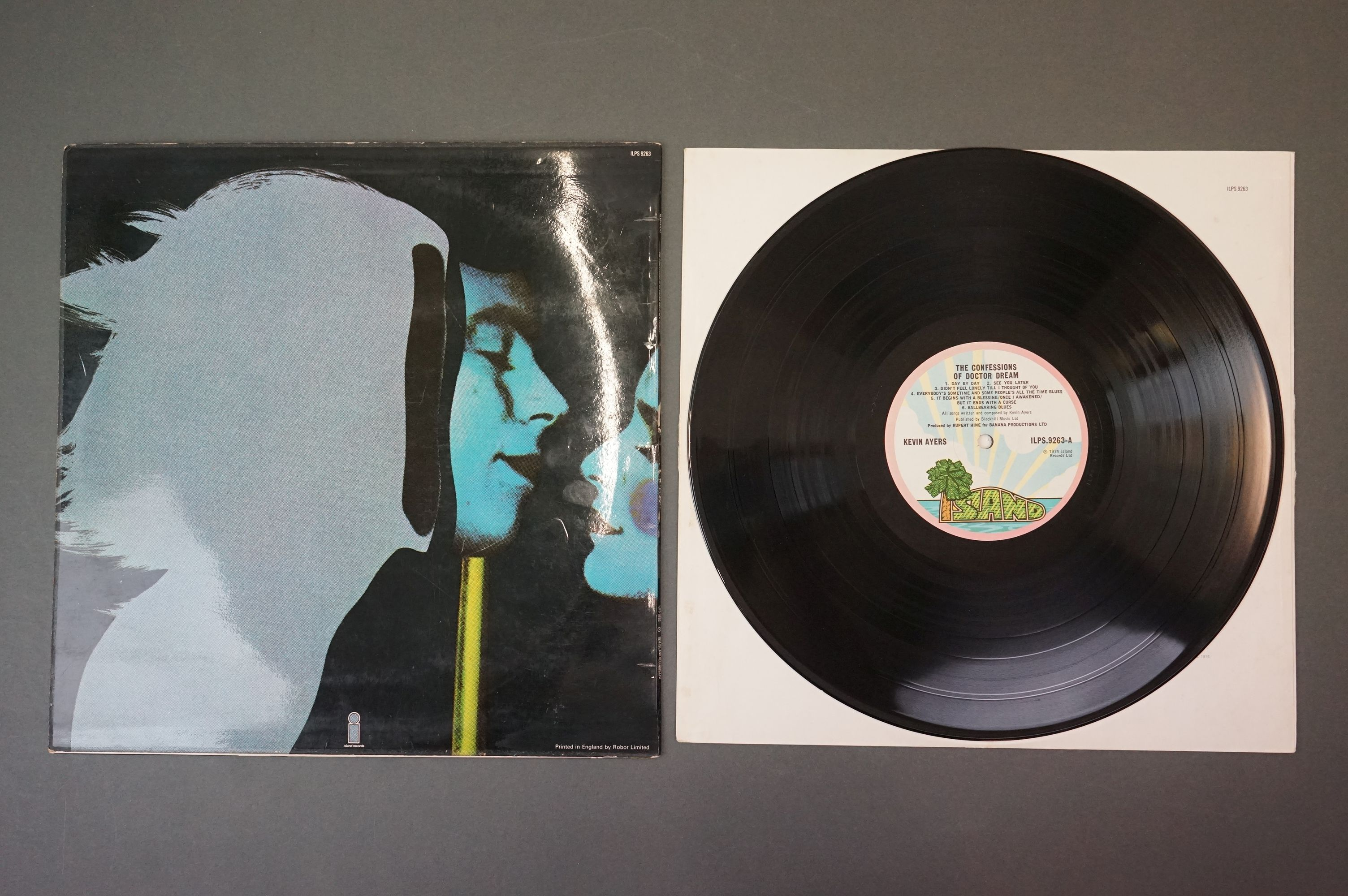 Vinyl - Kevin Ayers 1 LP The Confessions Of Dr Dream (ILPS 9263) lyric inner plus 7 inch singles - Image 3 of 5