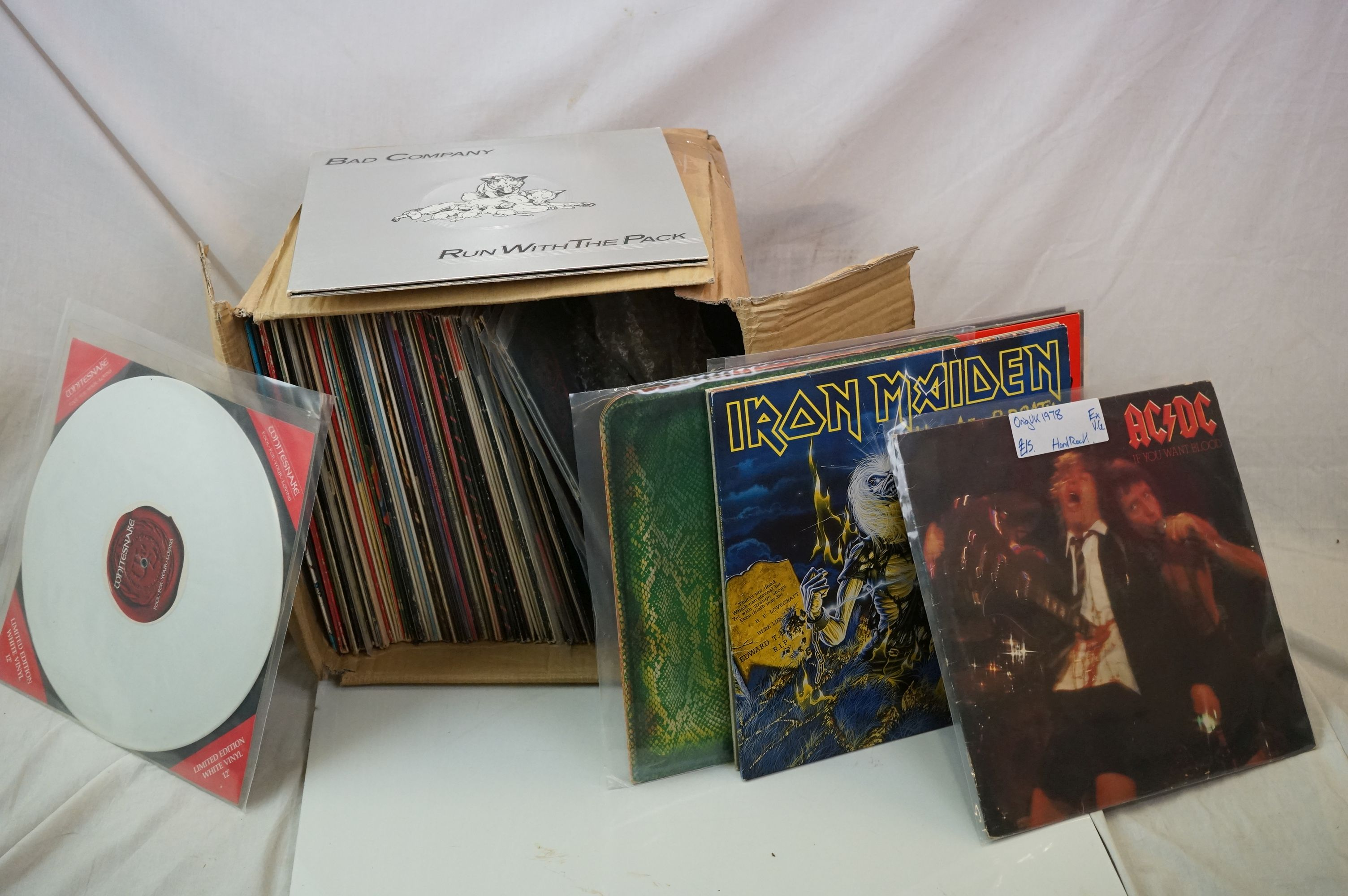 """Vinyl - Approx 70 LP's & 12"""" singles spanning genres and decades with some good heavy rock featuring"""