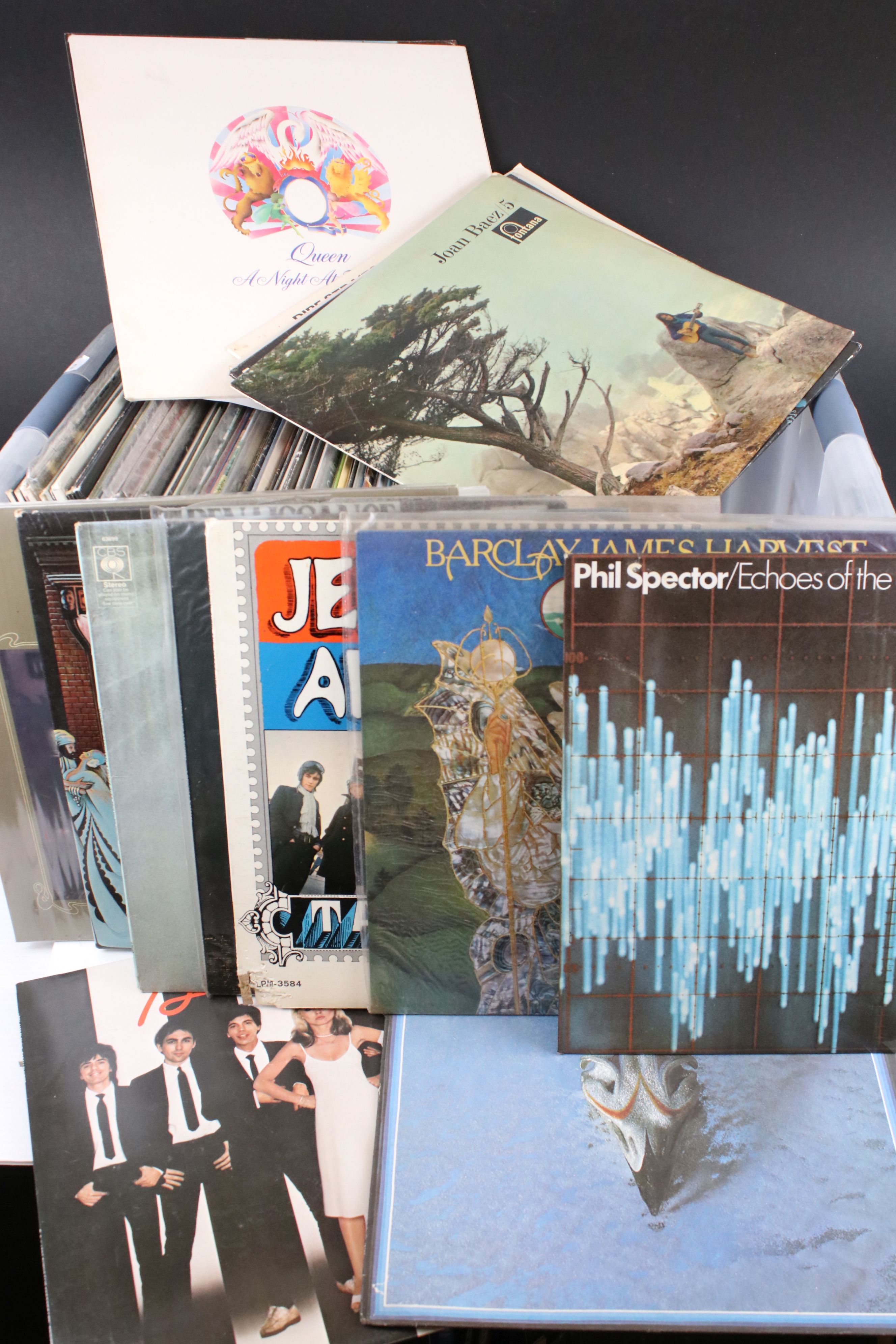 """Vinyl - Around 60 Pop and Rock LPs to include some 7"""" singles, artists feature The Eagles, ELP, Mike"""