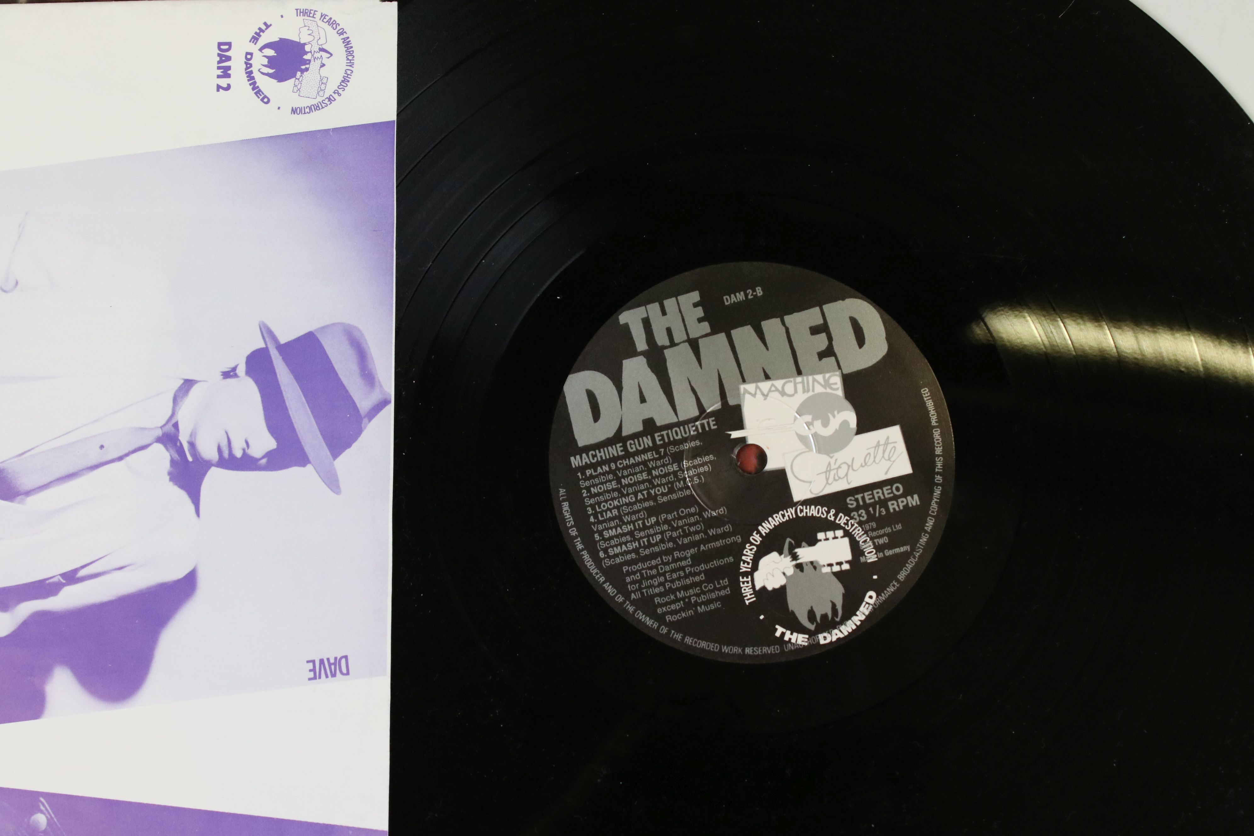 Vinyl - The Damned - Two reissue LPs to include Damned Damned Damned & Machine Gun Etiquette plus - Image 3 of 4