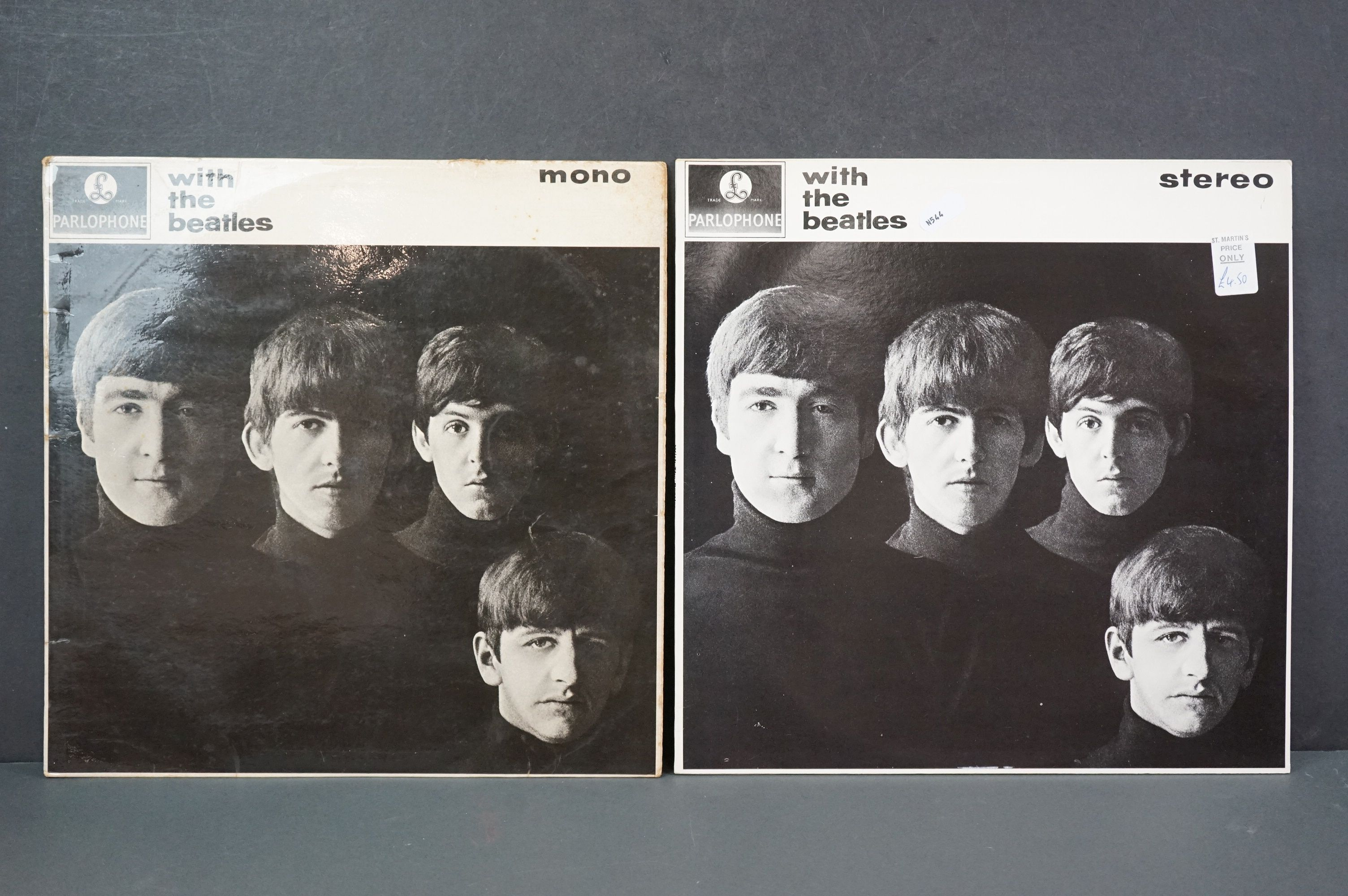 Vinyl - The Beatles With The Beatles x 2 copies to include PMC 1206, The Parlophone Co Ltd to