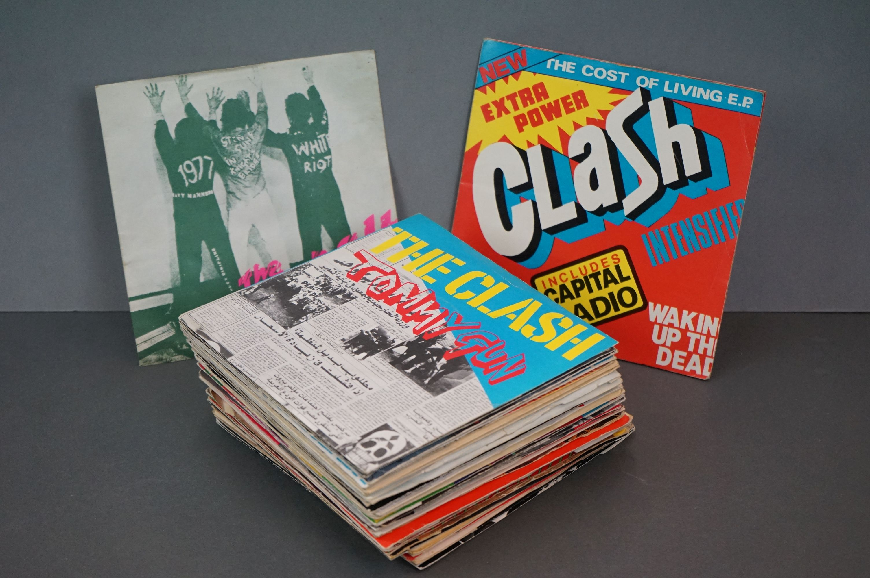 Vinyl - Approx 39 first generation punk singles including The Clash x 8, The Buzzcocks x 7,