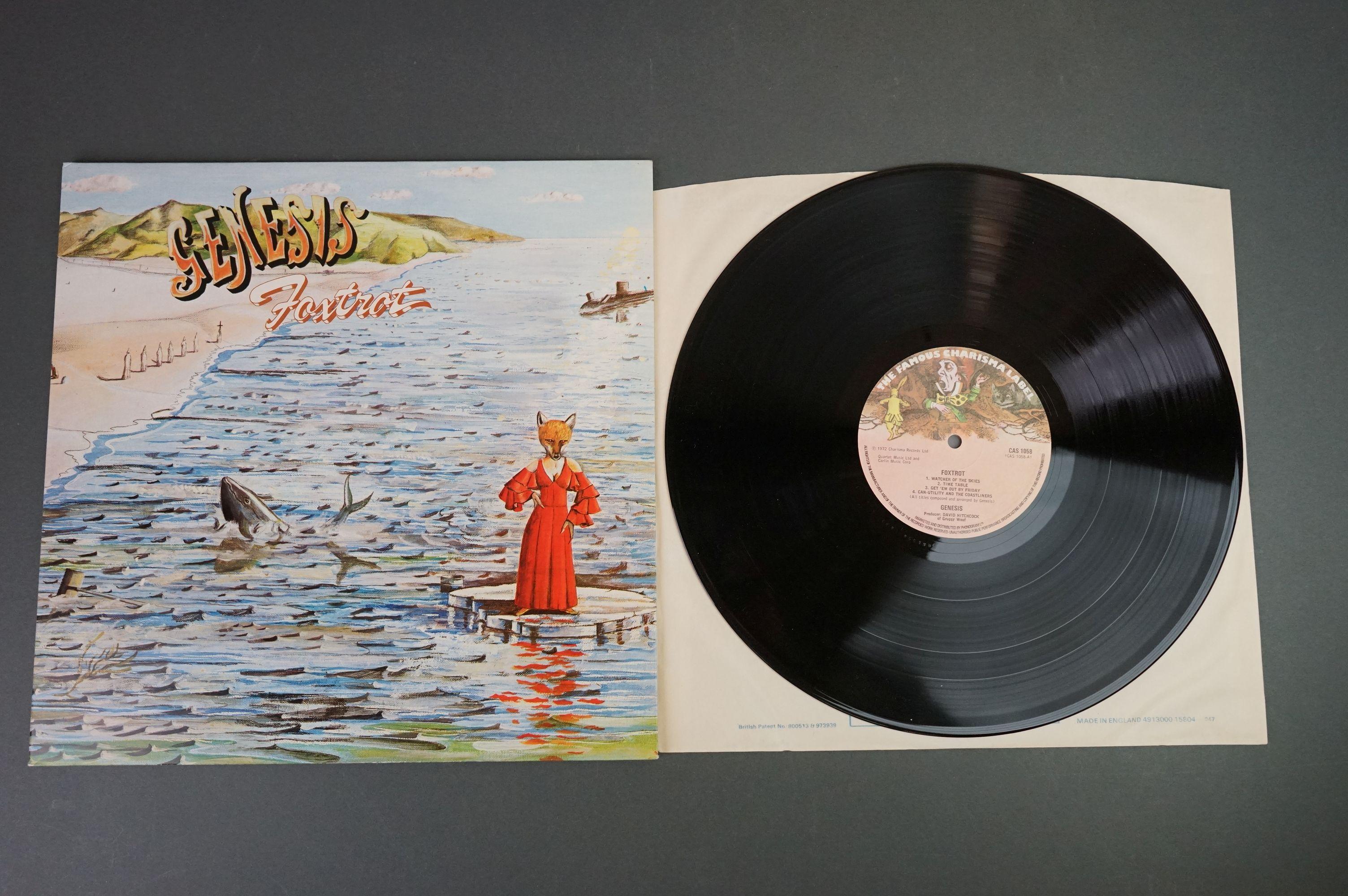 Vinyl - Five Genesis LPs to include Trespass (CAS1020), Nursery Cryme (CAS1052), Foxtrot ( - Image 6 of 9