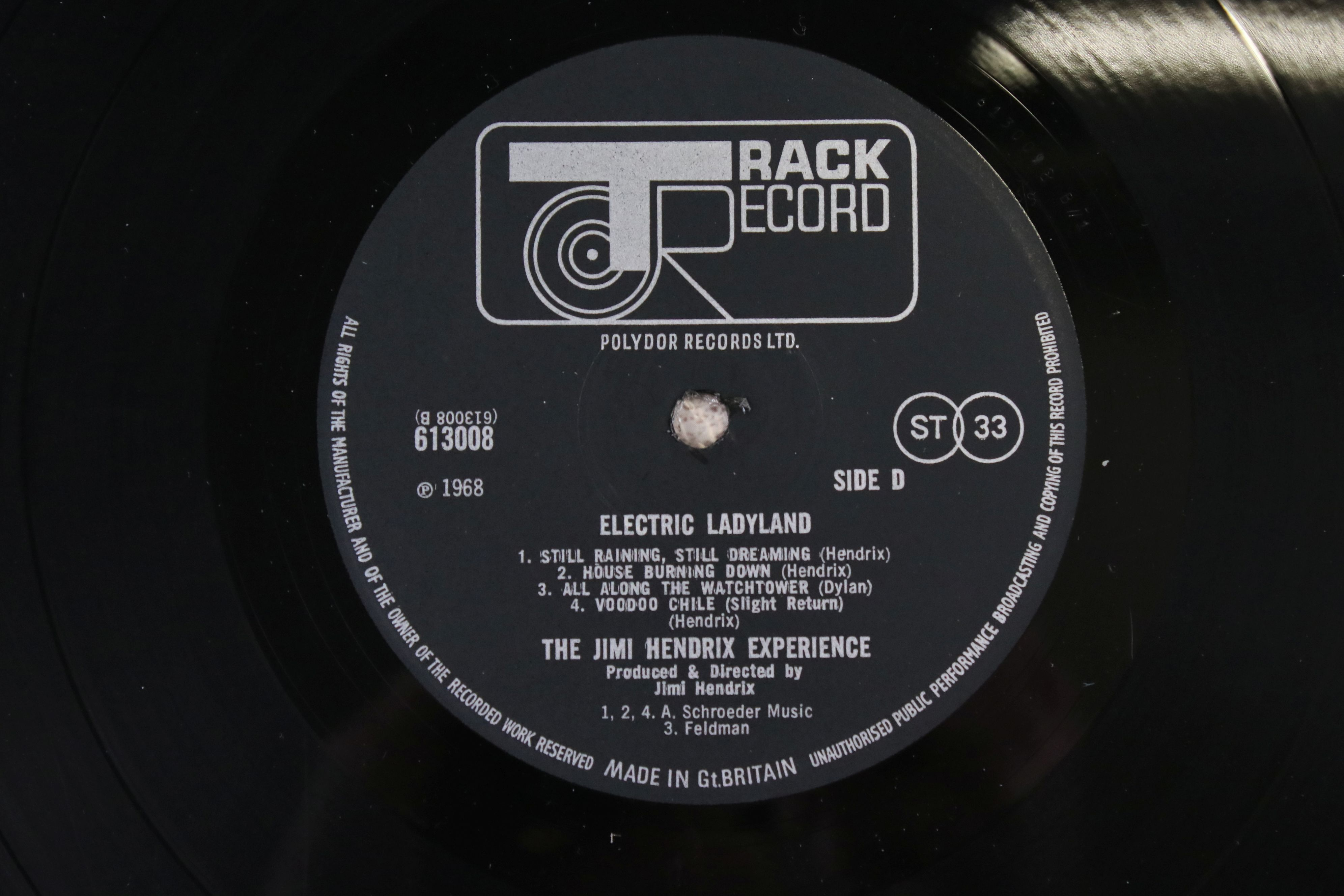 Vinyl - Jimi Hendrix Electric Ladyland on Track 61300819 blue text, Jimi to the right when - Image 4 of 9