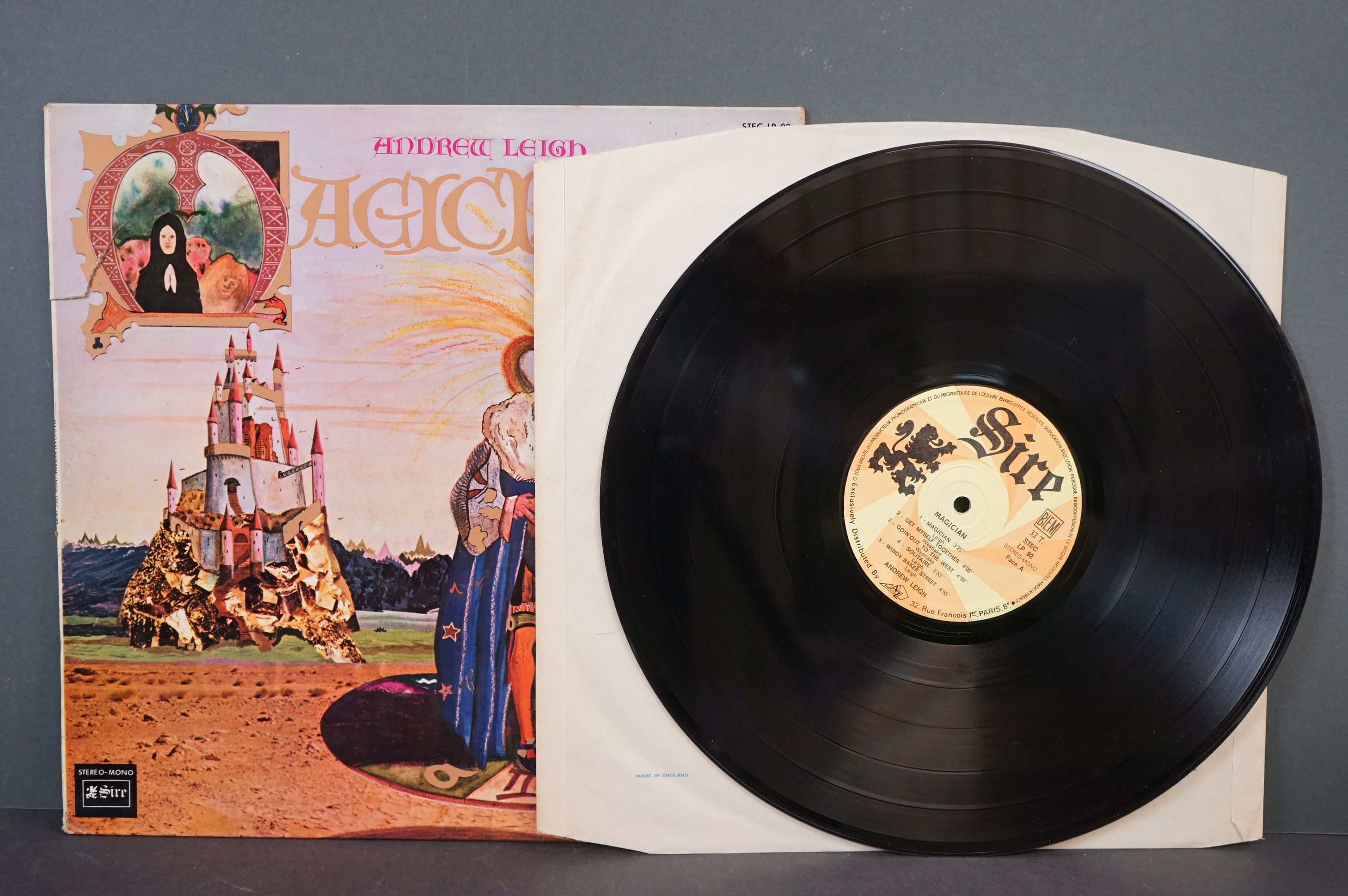 Vinyl - Psych / Acid Folk - Andrew Leigh - Magician. 1970 French 1st Pressing, Sire Records, - Image 2 of 3