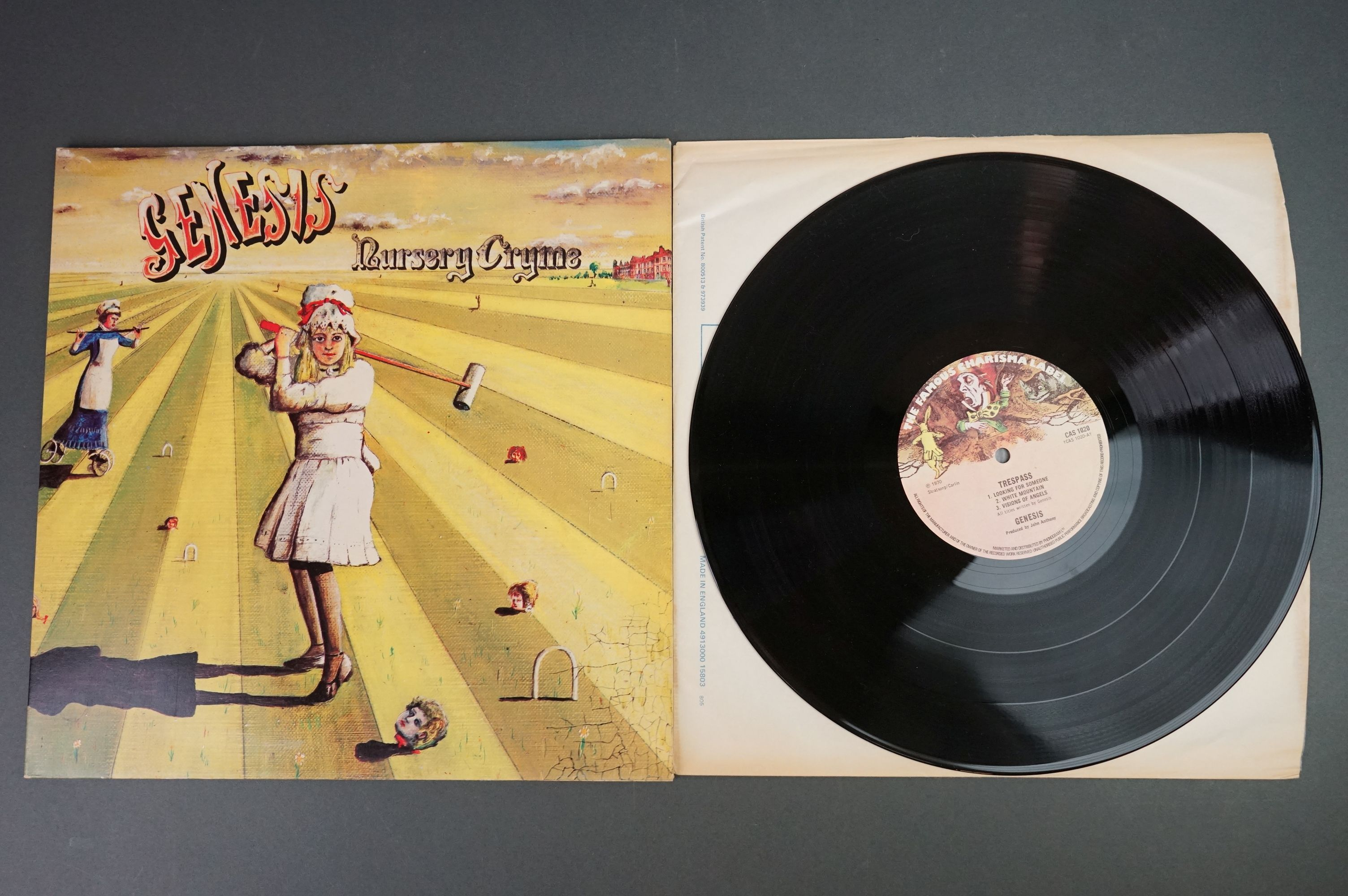 Vinyl - Five Genesis LPs to include Trespass (CAS1020), Nursery Cryme (CAS1052), Foxtrot ( - Image 4 of 9