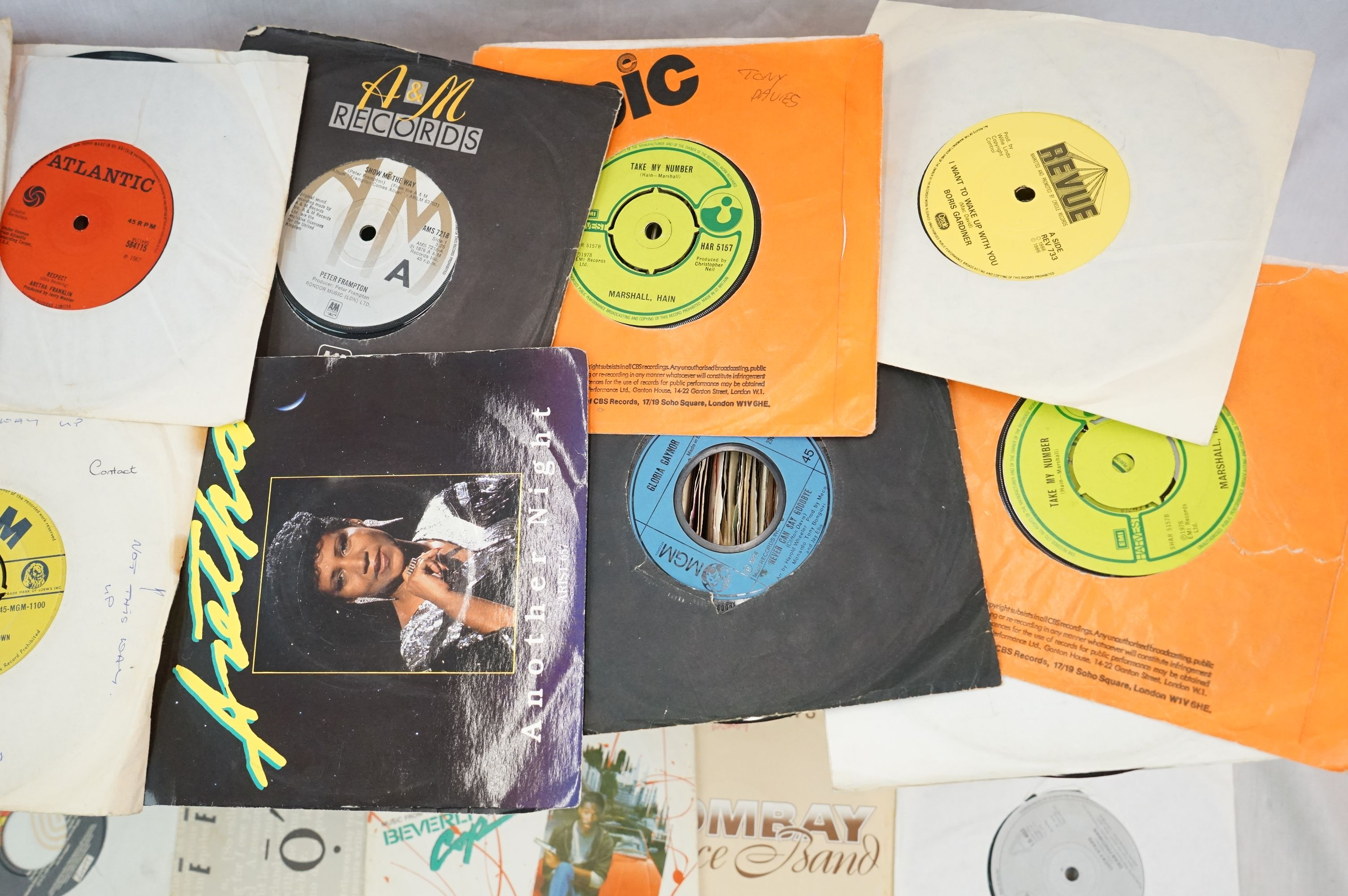 """Vinyl - Approx 200 vinyl 7"""" singles spanning the decades and the genres, picture sleeves, company - Image 3 of 5"""
