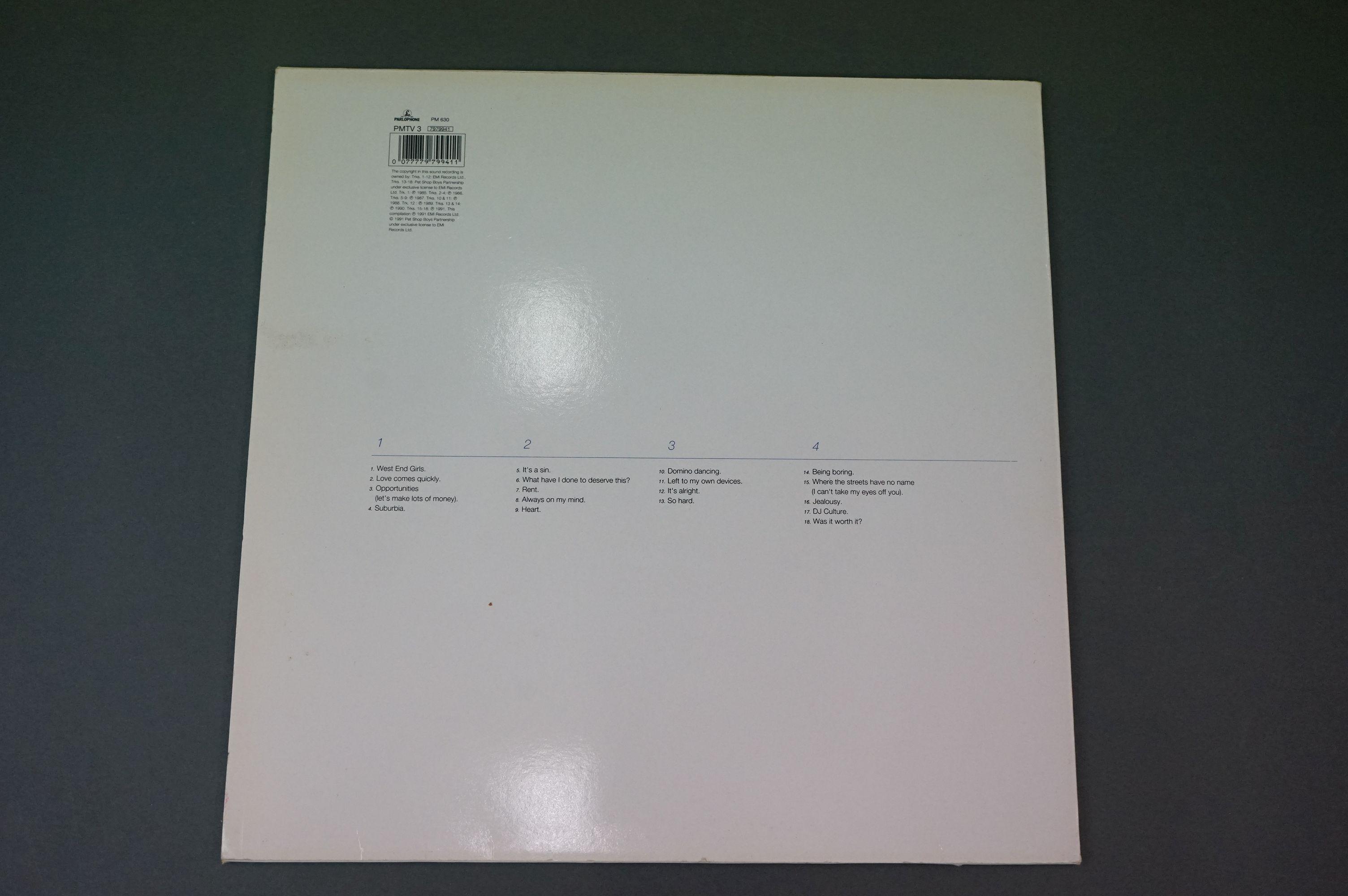 Vinyl - Pet Shop Boys Discography Double Album on Parlophone PMTV3 in sleeves ex, vinyl vg+ - Image 6 of 6