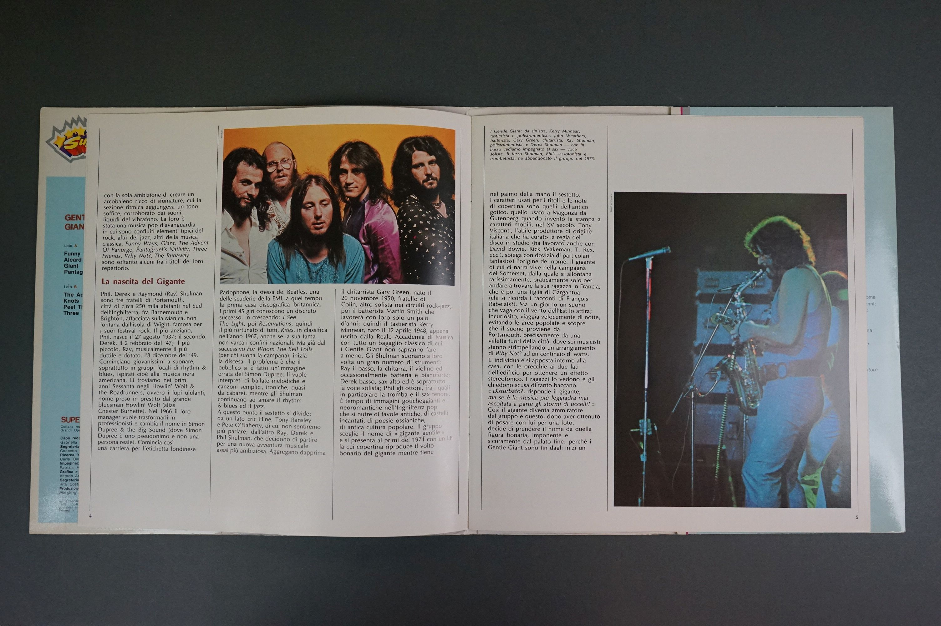 Vinyl - Two Gentle Giant LPs to include In A Glasshouse WWA002 Photograph card and printed inners, - Image 8 of 10